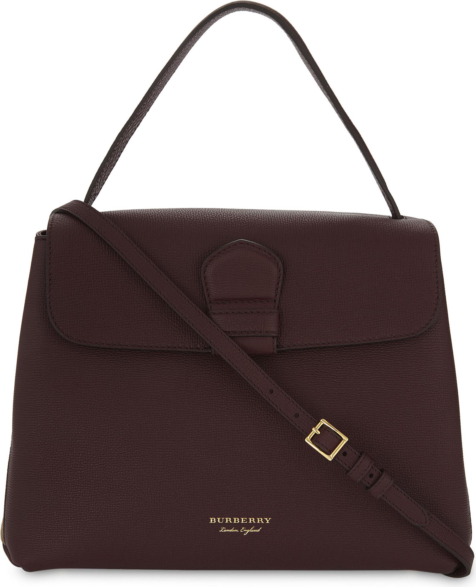 Lyst - Burberry Camberley Medium Grained Leather Shoulder Bag in Red 718b9af4aca43
