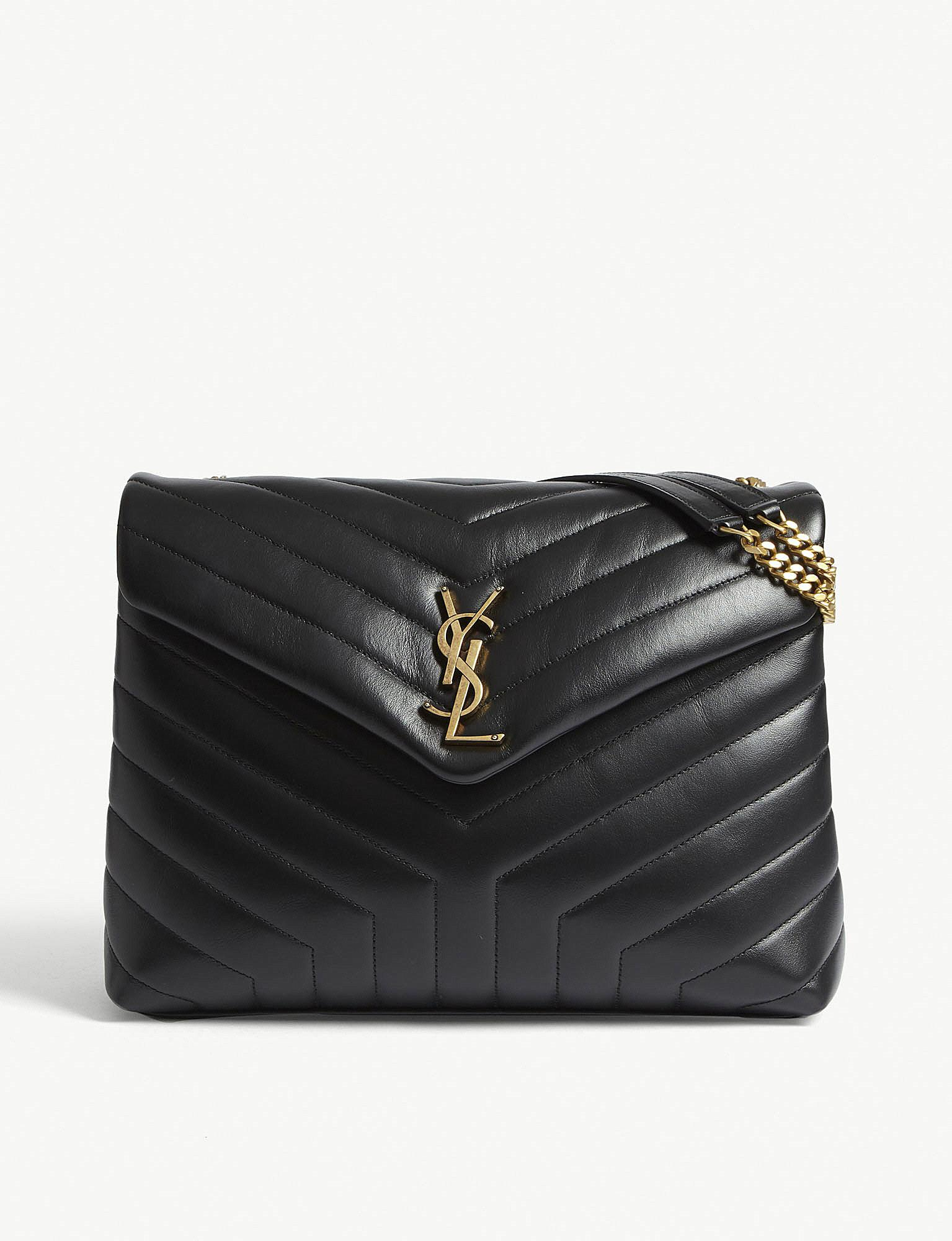 430790558c Saint Laurent. Women s Black Monogram Loulou Medium Leather Shoulder Bag