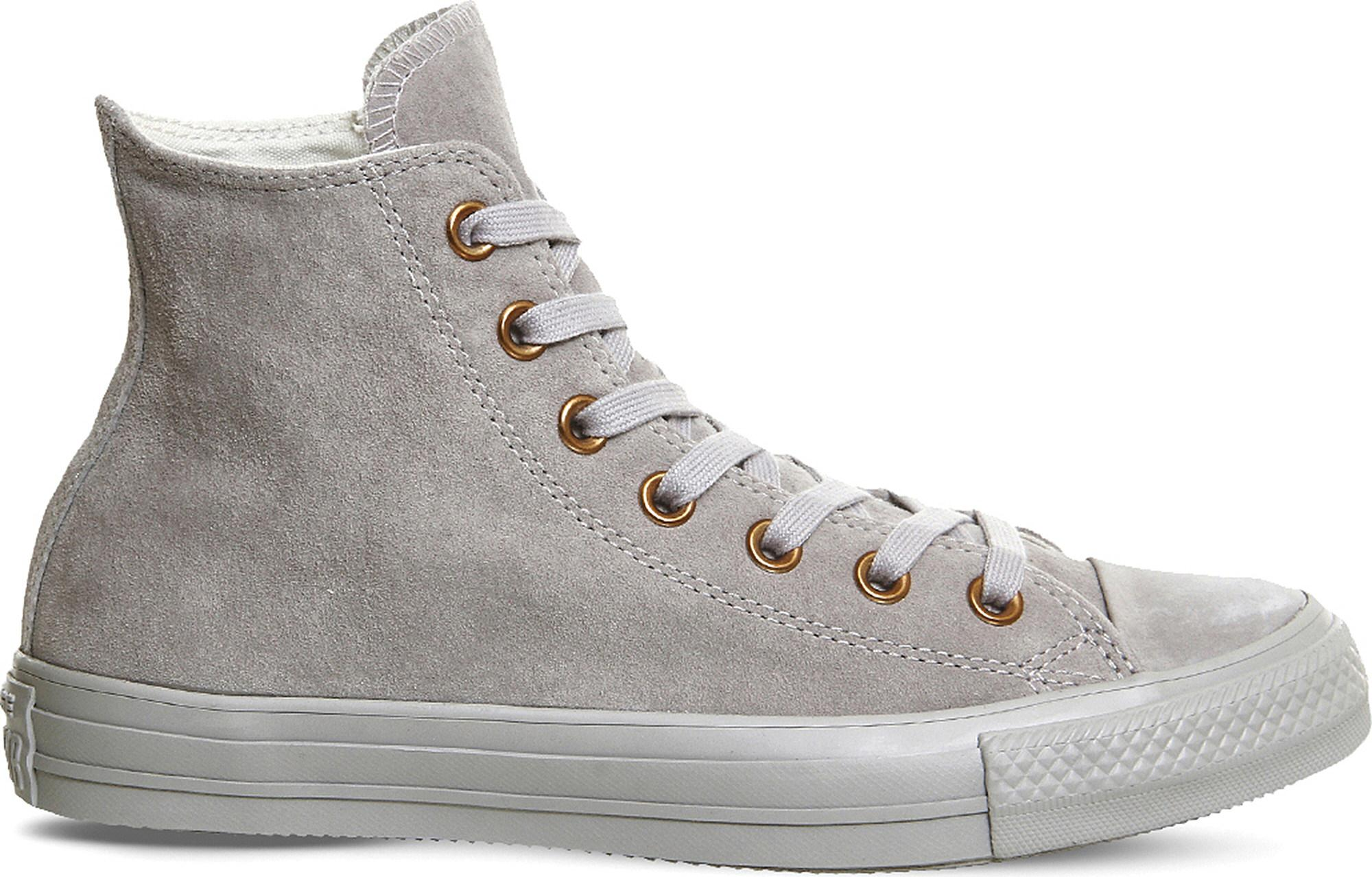 ef753dbc8e8 Converse Mens All Star Hi Ash Grey   Rose Gold Suede High Top ...