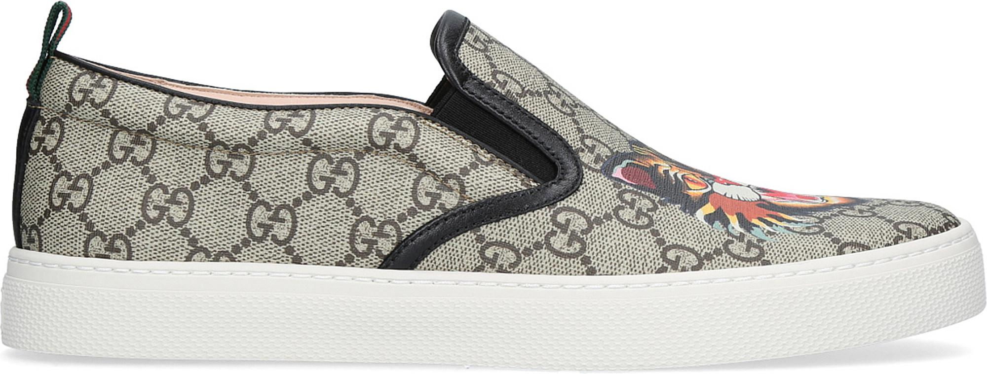 ee3faa37a Gucci Dublin Tiger-print Gg Canvas Skate Shoes in Brown for Men - Lyst