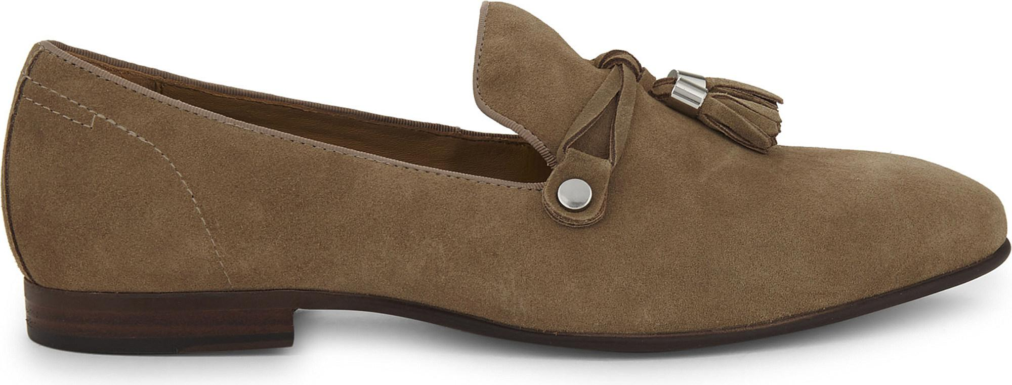 7761262944e Aldo Mccrery Suede Loafers in Natural - Lyst