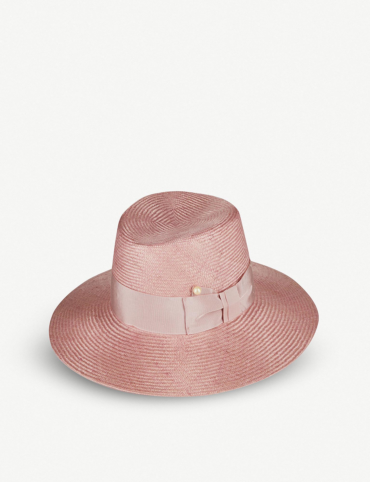 Gem faux-pearl embellished straw hat Federica Moretti Qah4HAocR