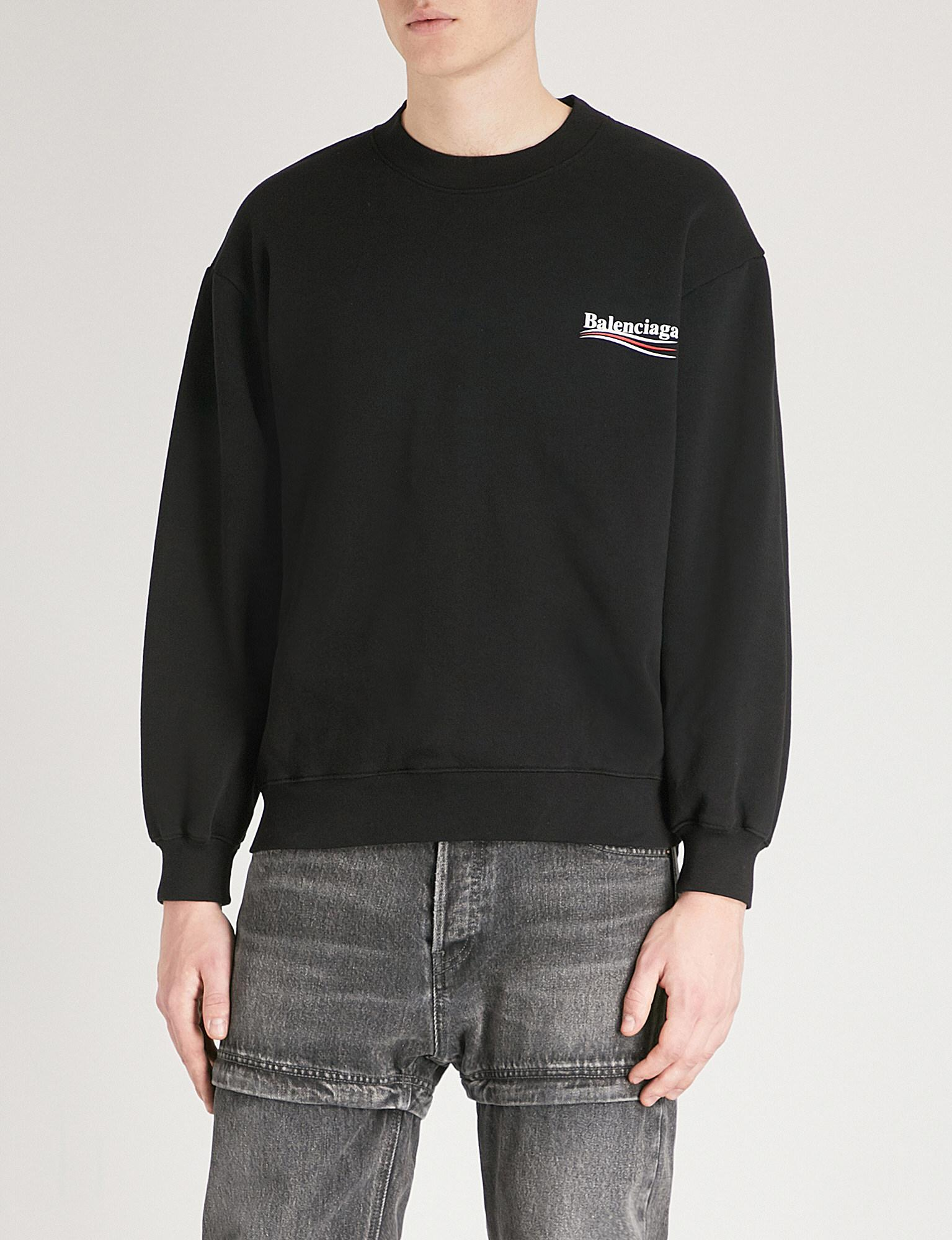 Printed Fleece-back Cotton-blend Jersey Sweatshirt Balenciaga For Cheap Sale Online Wide Range Of Online Collections Cheap Clearance aRKFGO