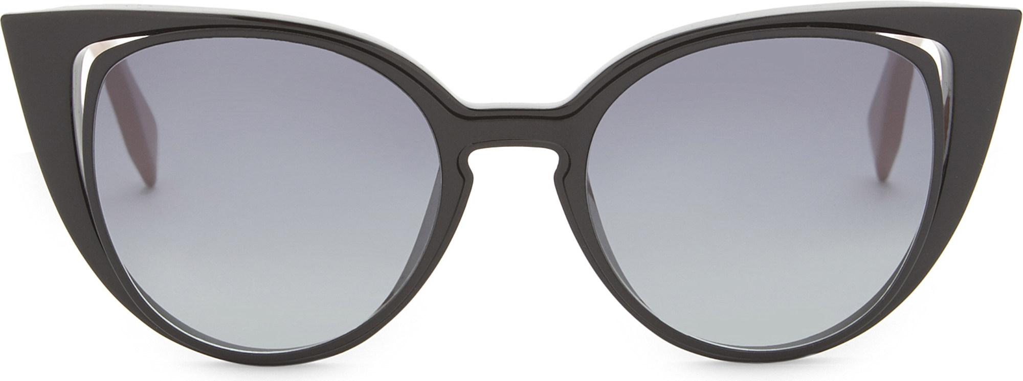 2d722a452ea Lyst - Fendi Ff0136 Cat-eye Sunglasses in Black