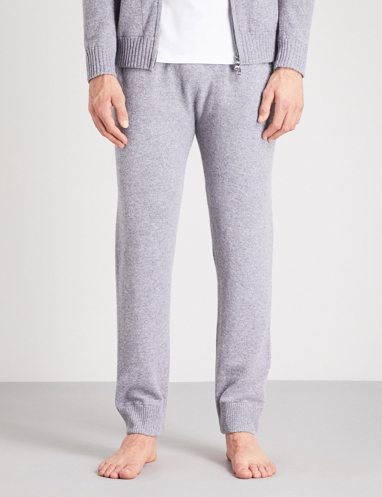 2fc7aff47d2f Lyst - Derek Rose Finley Cashmere Pyjama Bottoms in Metallic for Men