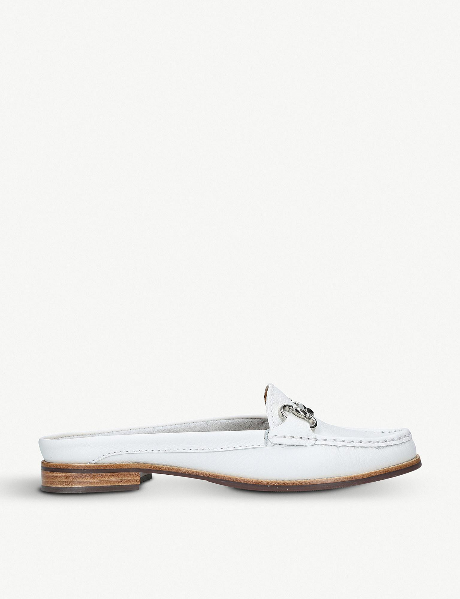 8721638e58a Lyst - Carvela Kurt Geiger Clayton Leather Loafers in White