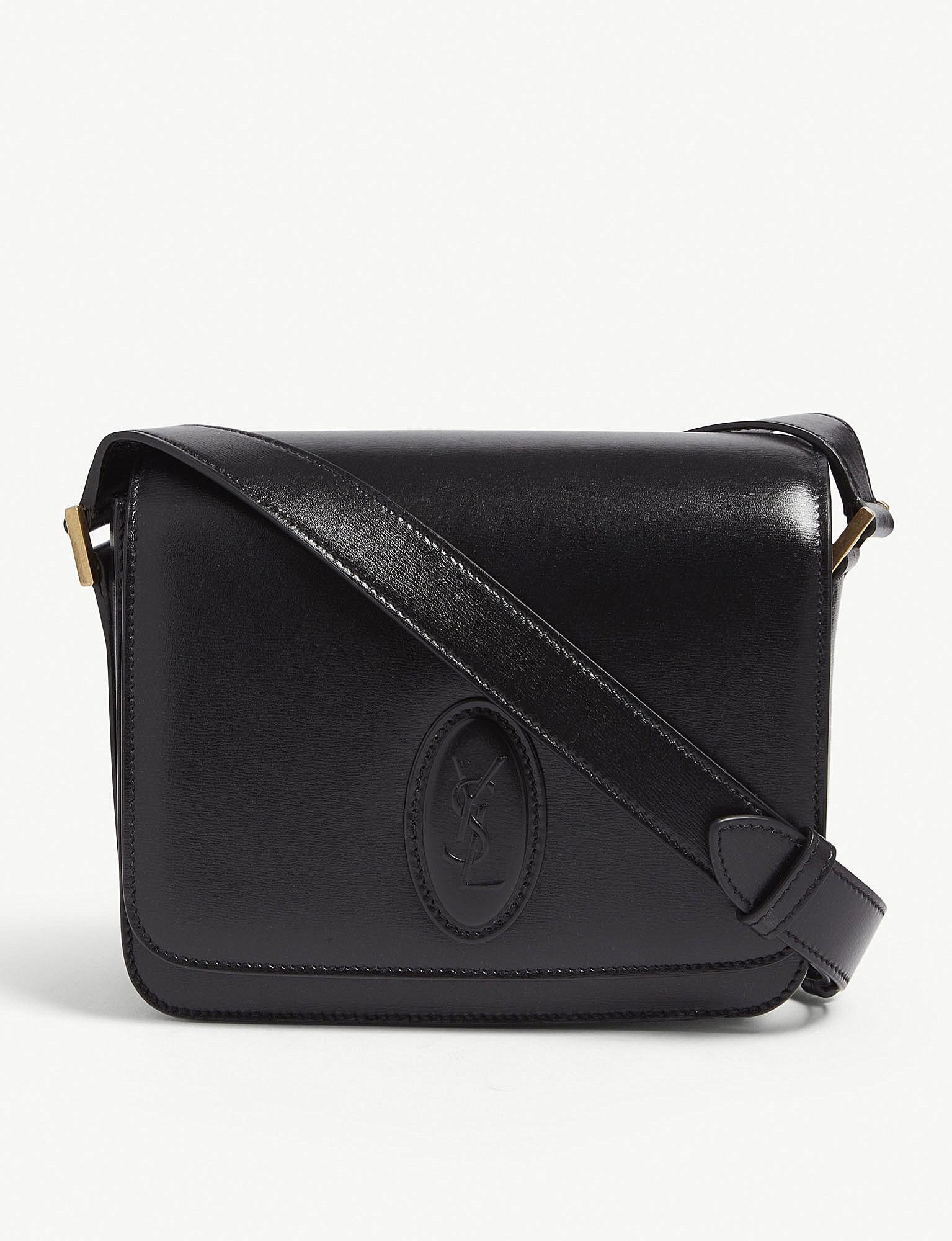 Lyst - Saint Laurent Besace Small Leather Shoulder Bag in Black e49524c2fc650