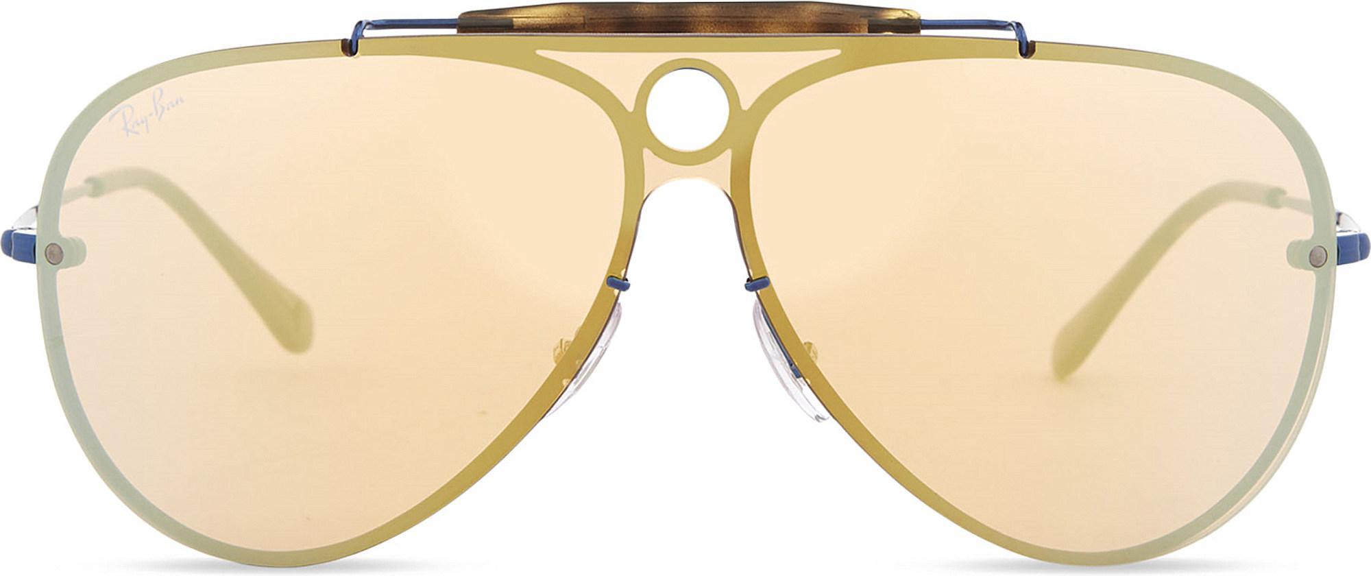 dda1bae9a9 Lyst - Ray-Ban Rb3581 Aviator Sunglasses in Blue
