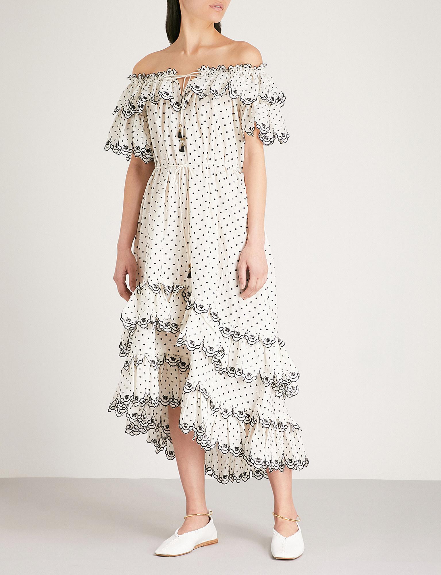 Jaya dotted linen dress Zimmermann WyQUtk12