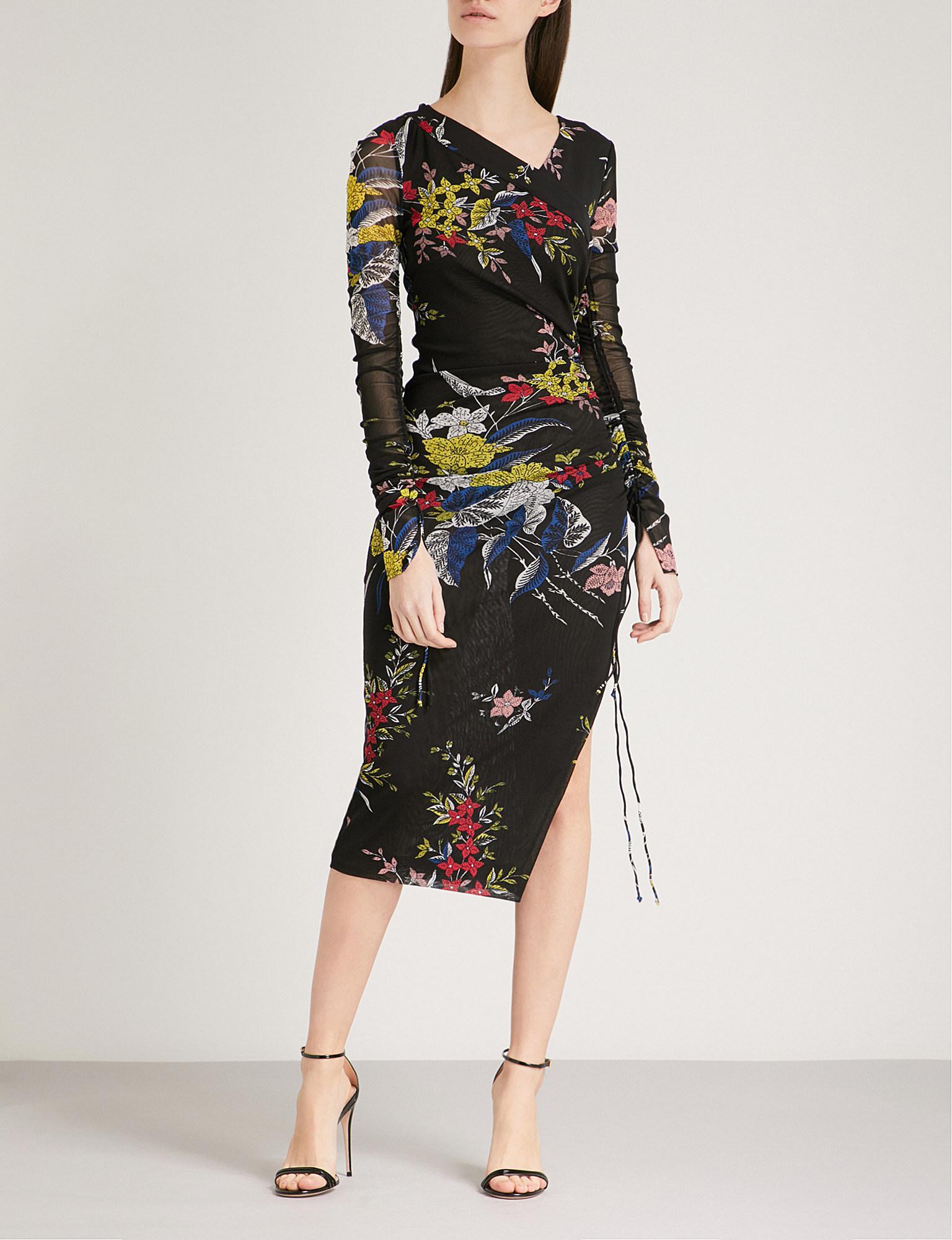 Fürstenberg estampado Diane Vestido malla floral de Von qwf4TY