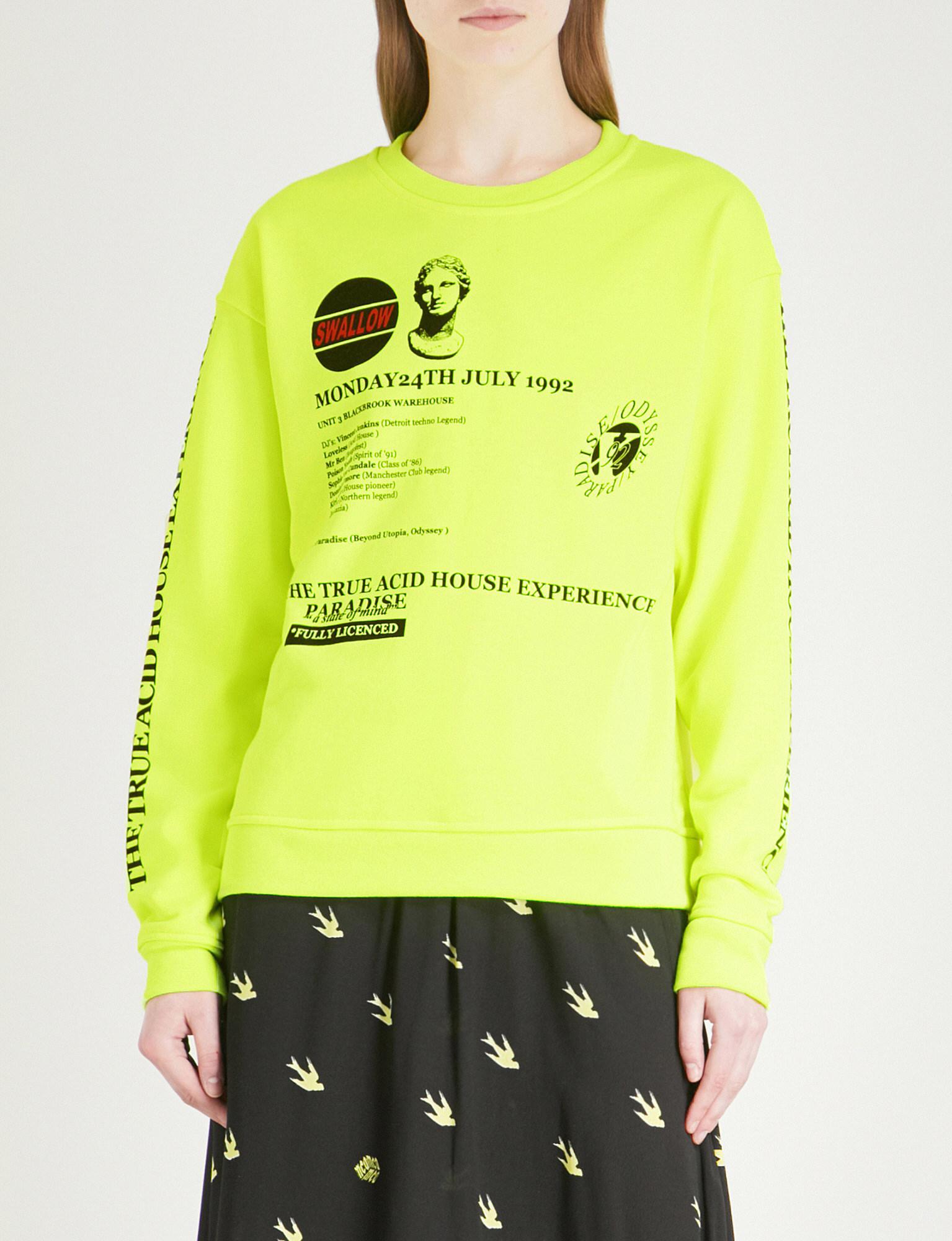 Lyst - McQ Acid House Jersey Sweatshirt in Yellow 5da69ca7d1b