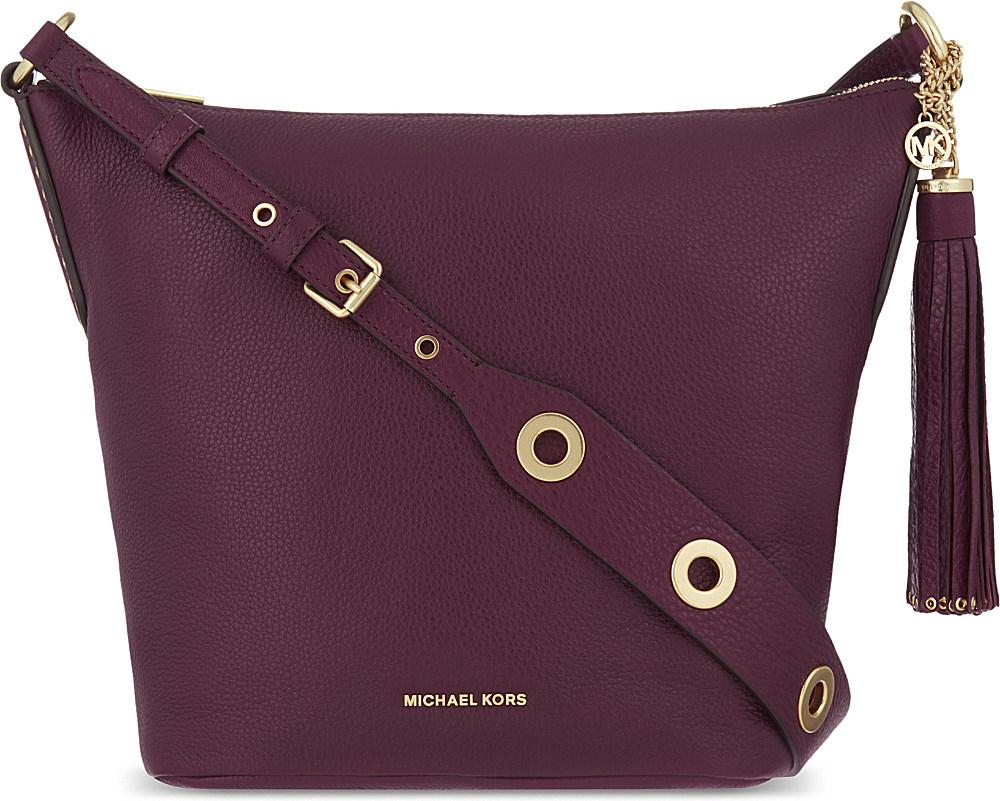 Michael Kors Handbags Purple Leather