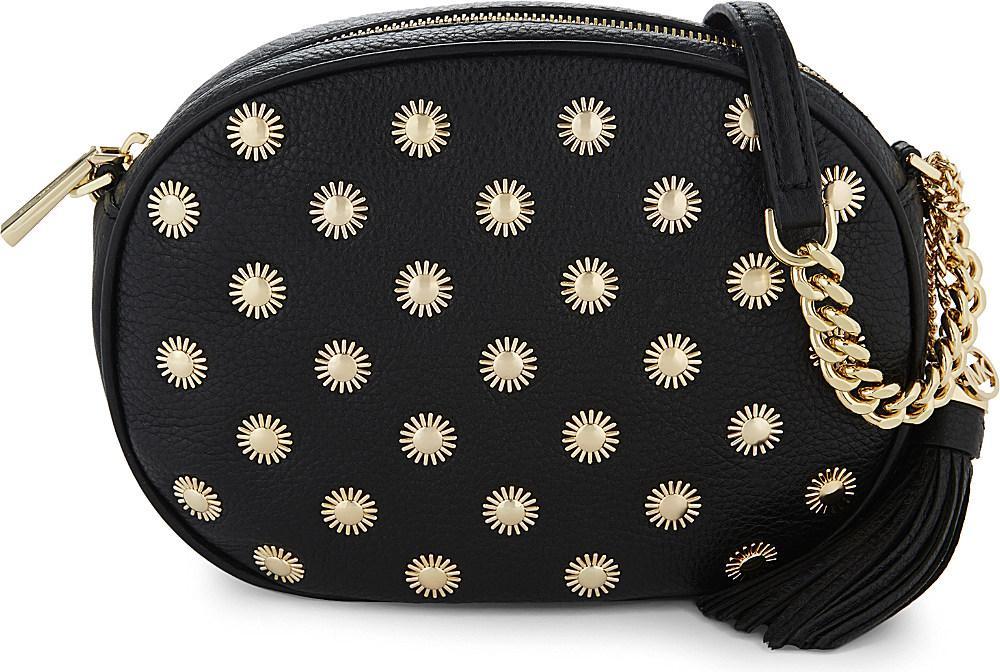 844e42491114 MICHAEL Michael Kors Ginny Studded Medium Leather Cross-body Bag in ...