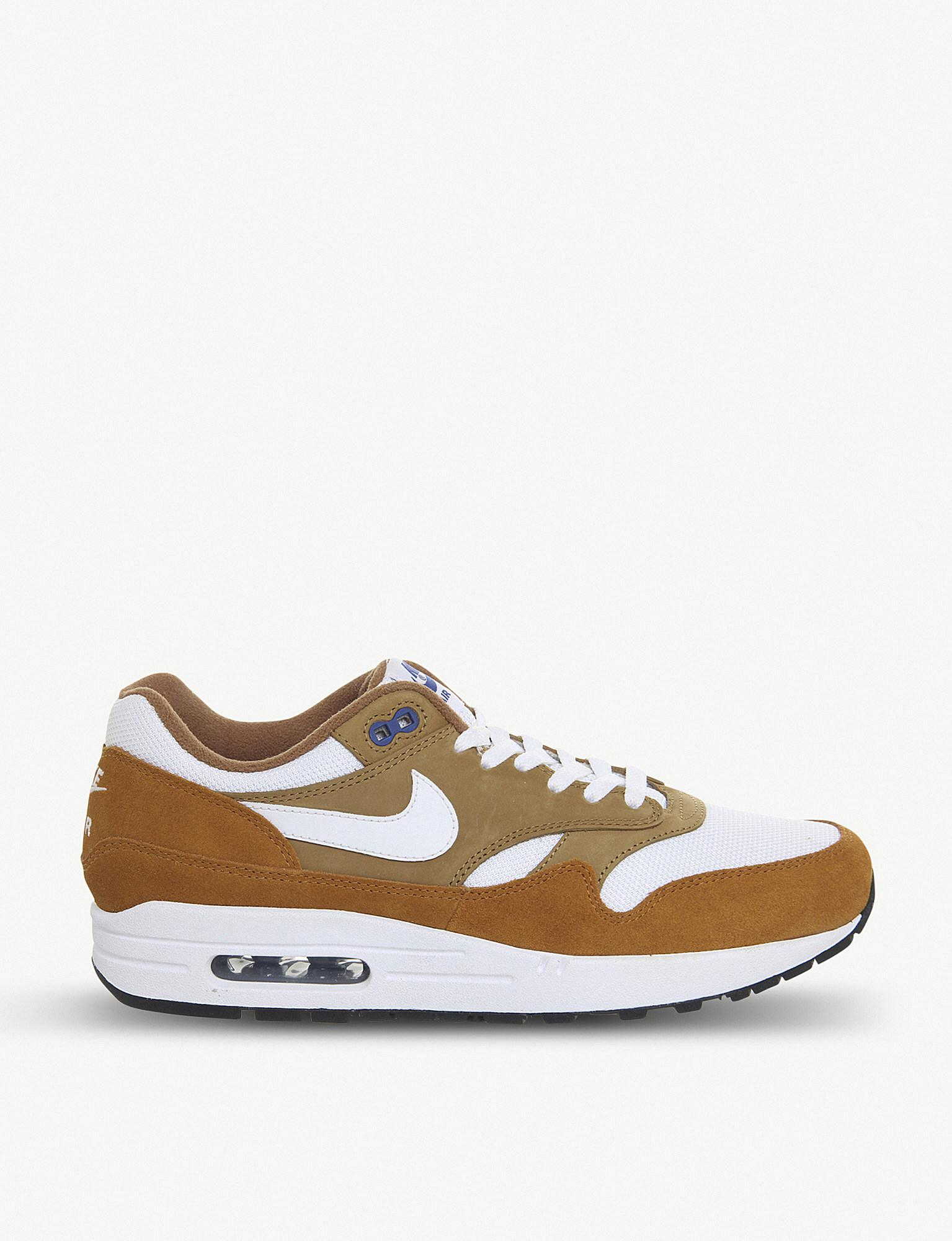 fc6bb76cff Lyst - Nike Air Max 1 Leather Trainers in Brown for Men