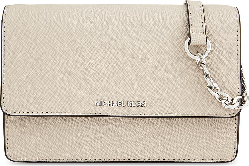 fcae35251 MICHAEL Michael Kors Daniela Small Leather Cross-body Bag in Natural ...