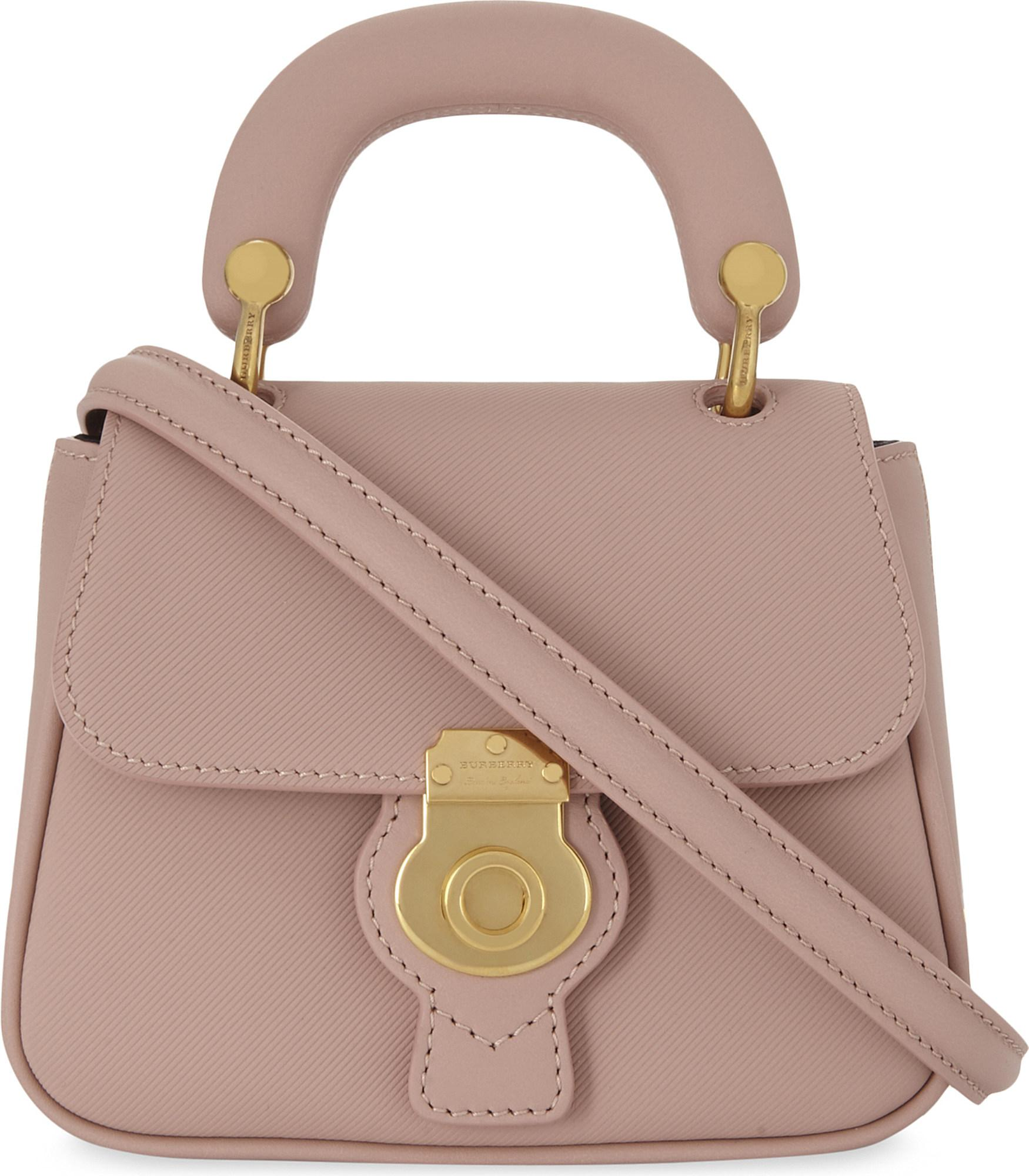80db79140cc Burberry Dk88 Trench Leather Mini Cross-body Bag in Pink - Lyst
