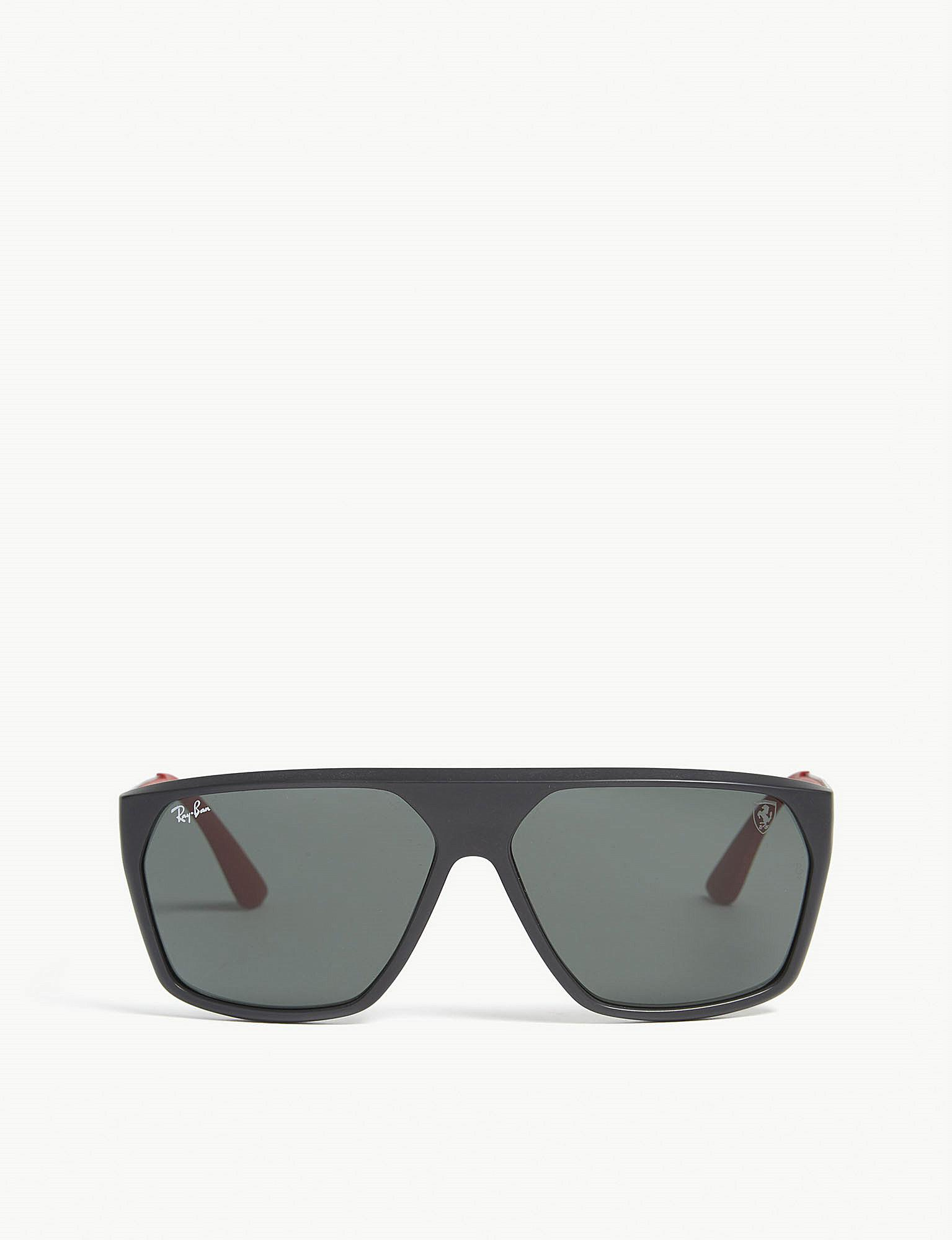 6944a6969c9 Lyst - Ray-Ban Rb4309 Square-frame Sunglasses in Black