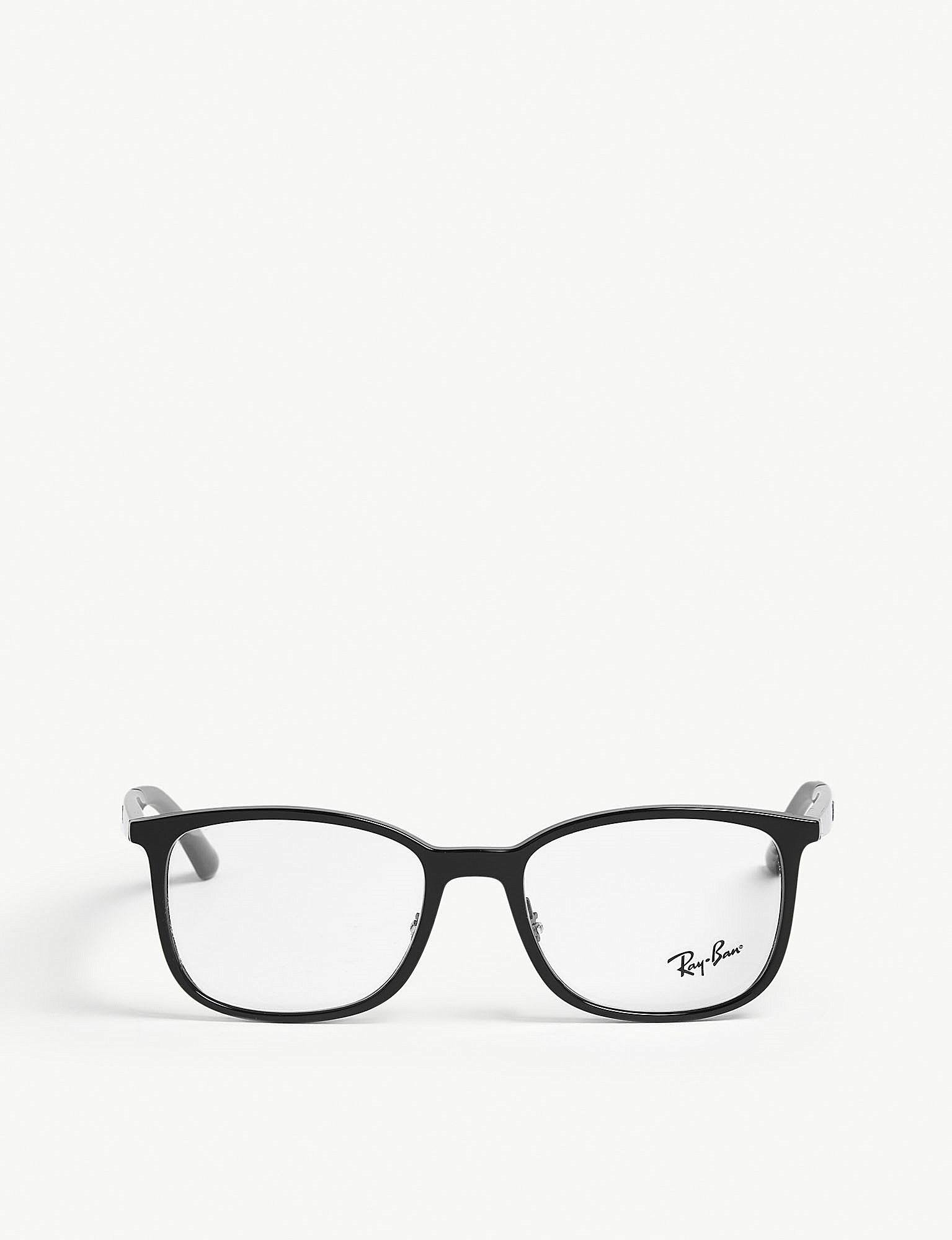 1ec68819ce7 Lyst - Ray-Ban Rb7142 Square-frame Optical Glasses in Black for Men