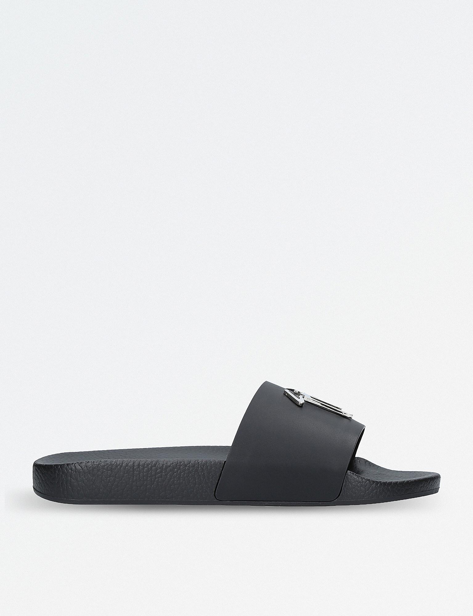 Giuseppe Zanotti Fabric sandal with black logo signature BRETT SIGNATURE 8FoH4