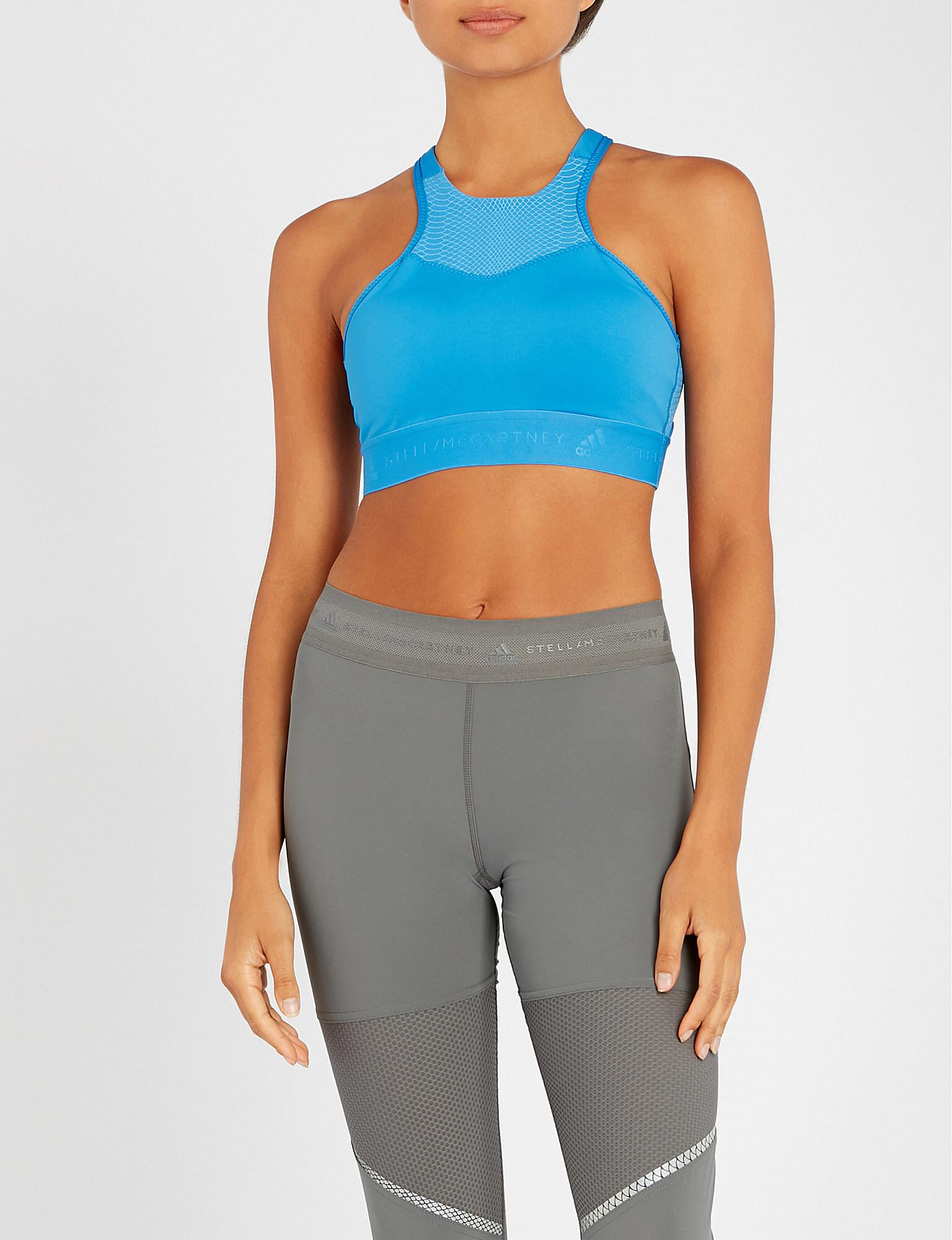 cdb9cb82f3cb5 Adidas By Stella Mccartney Hiit Stretch-jersey Sports Bra in Blue - Lyst