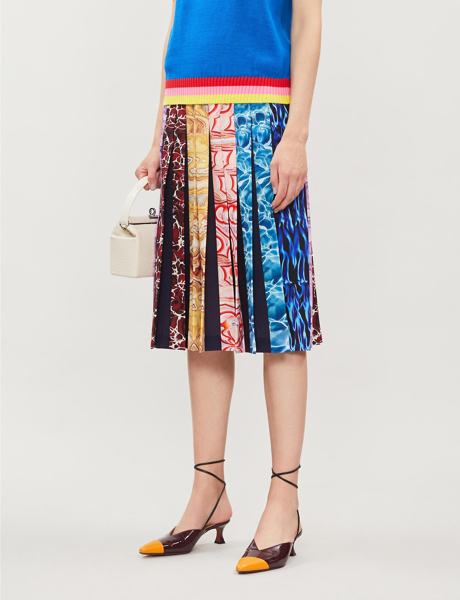 528b2df423ab Mary Katrantzou - Blue Nyx Graphic-print Crepe Midi Skirt - Lyst. View  fullscreen