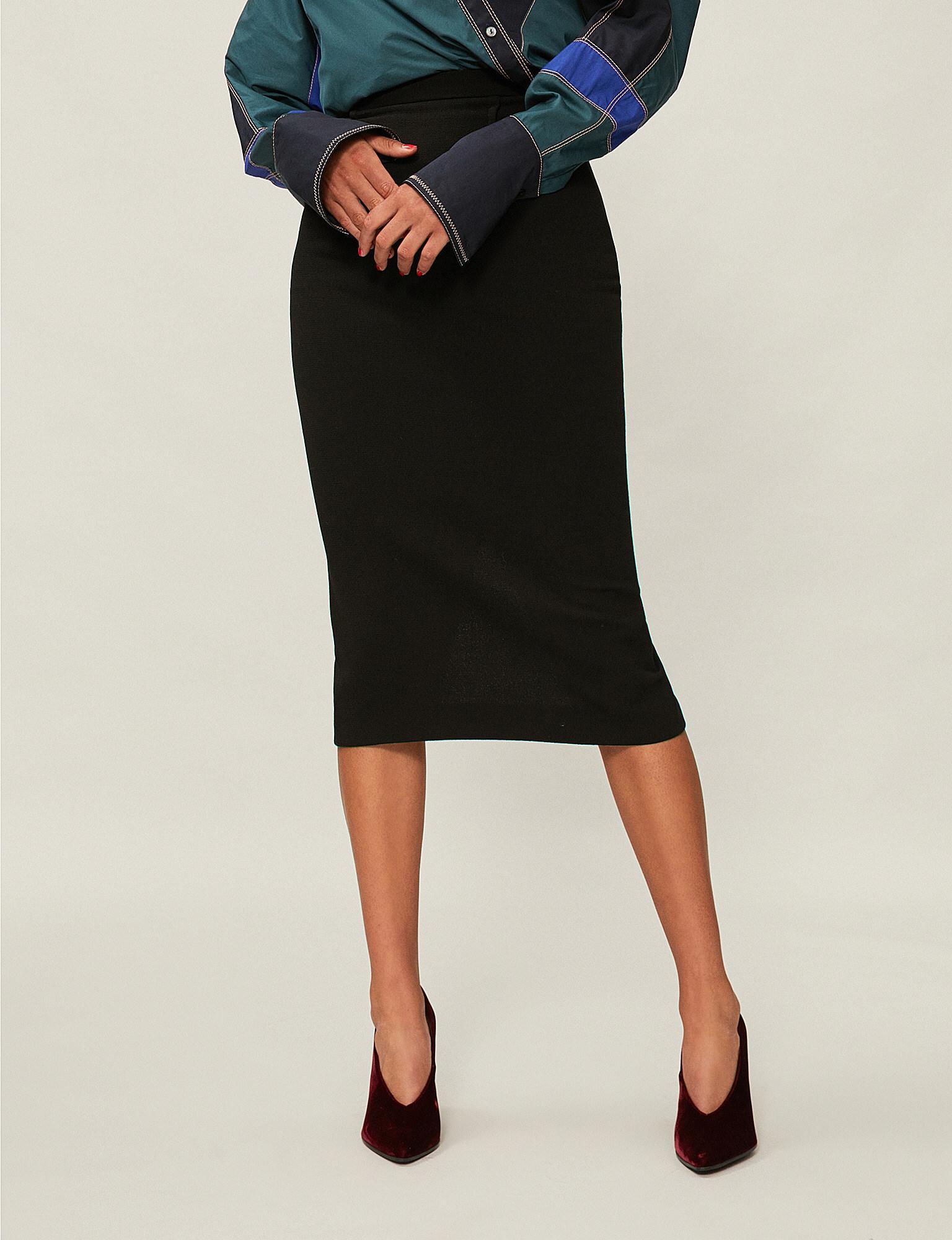 a956e0603 Roland Mouret Arreton Wool Skirt in Black - Lyst