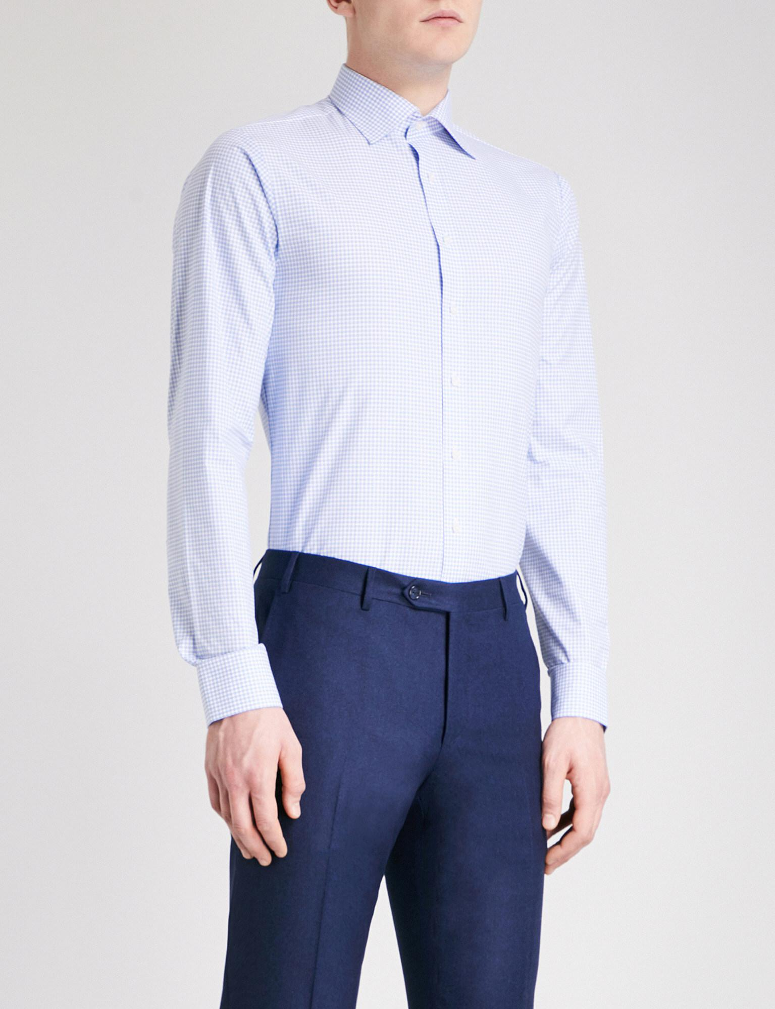 Thomas Pink Greenwood Checked Super Slim Fit Cotton Shirt
