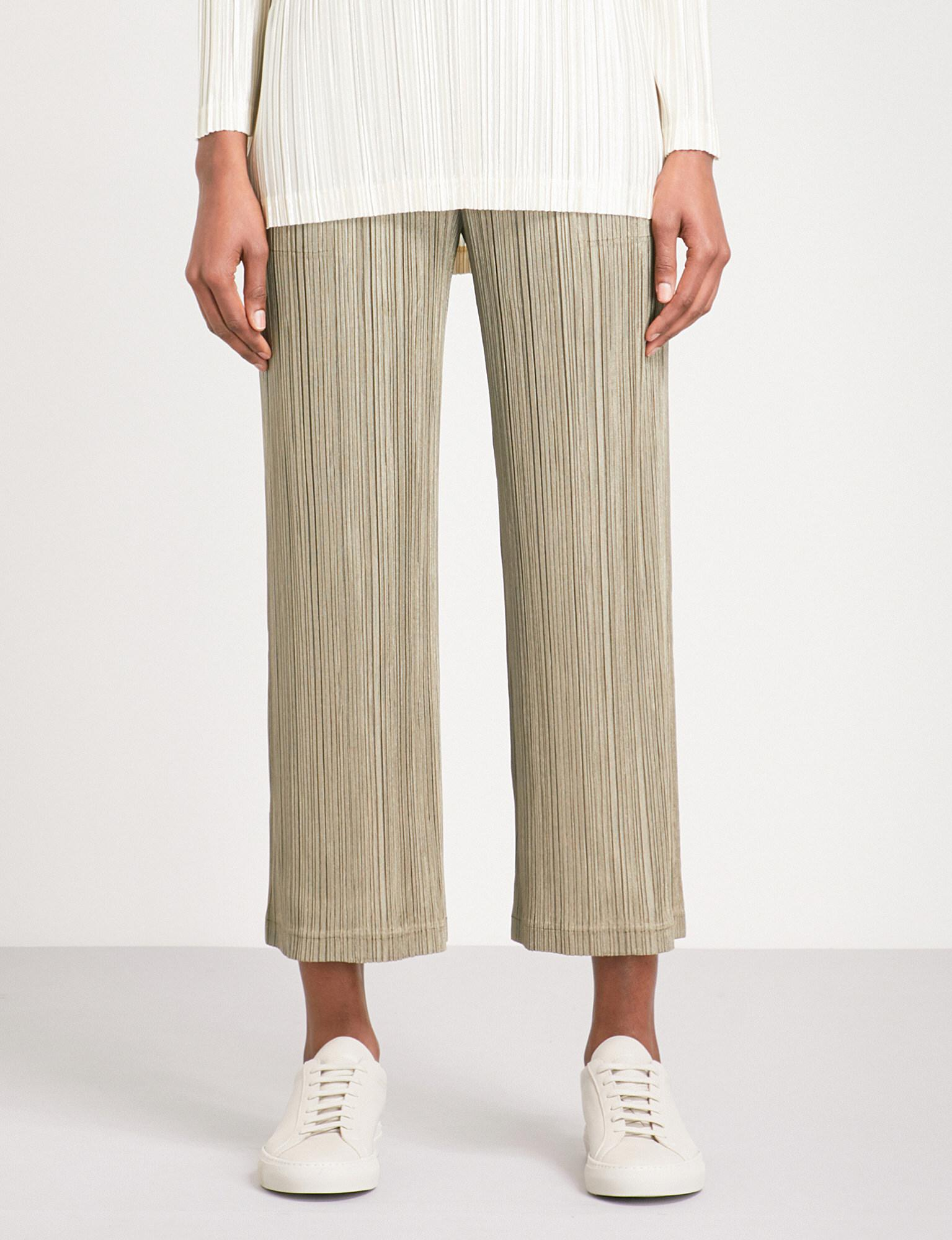 9e2cae9d64 Pleats Please Issey Miyake Wide Cropped High-rise Pleated Trousers ...