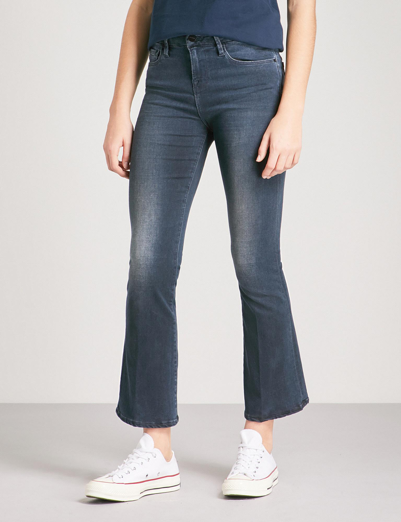 Sale For Nice Le Crop Mini Boot Frayed Mid-rise Jeans - Mid denim Frame Denim Top Quality Cheap Online Cheap Sale 100% Authentic Free Shipping Cheapest Price 5kQcxZxrM