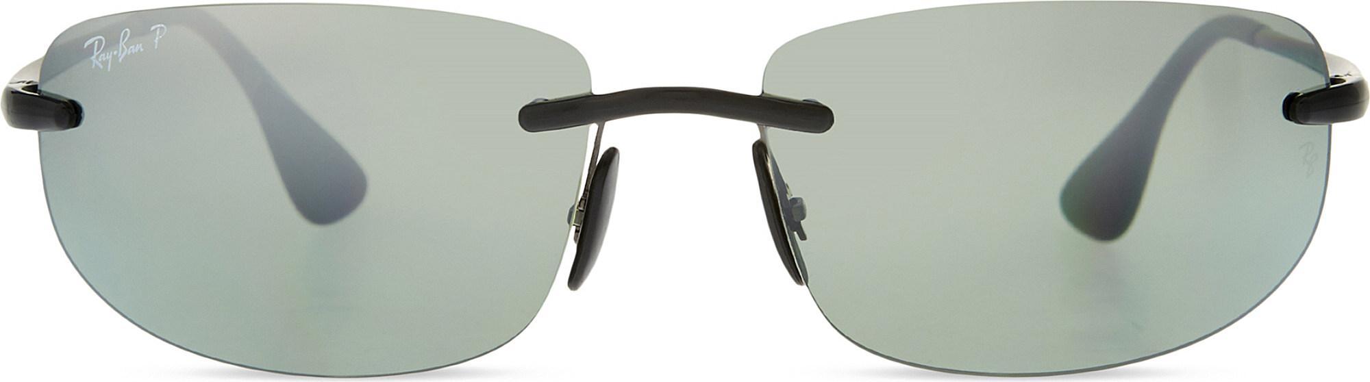 6f69e17b4d Ray-Ban Rb4254 Chromance Rectangle Sunglasses in Black - Lyst