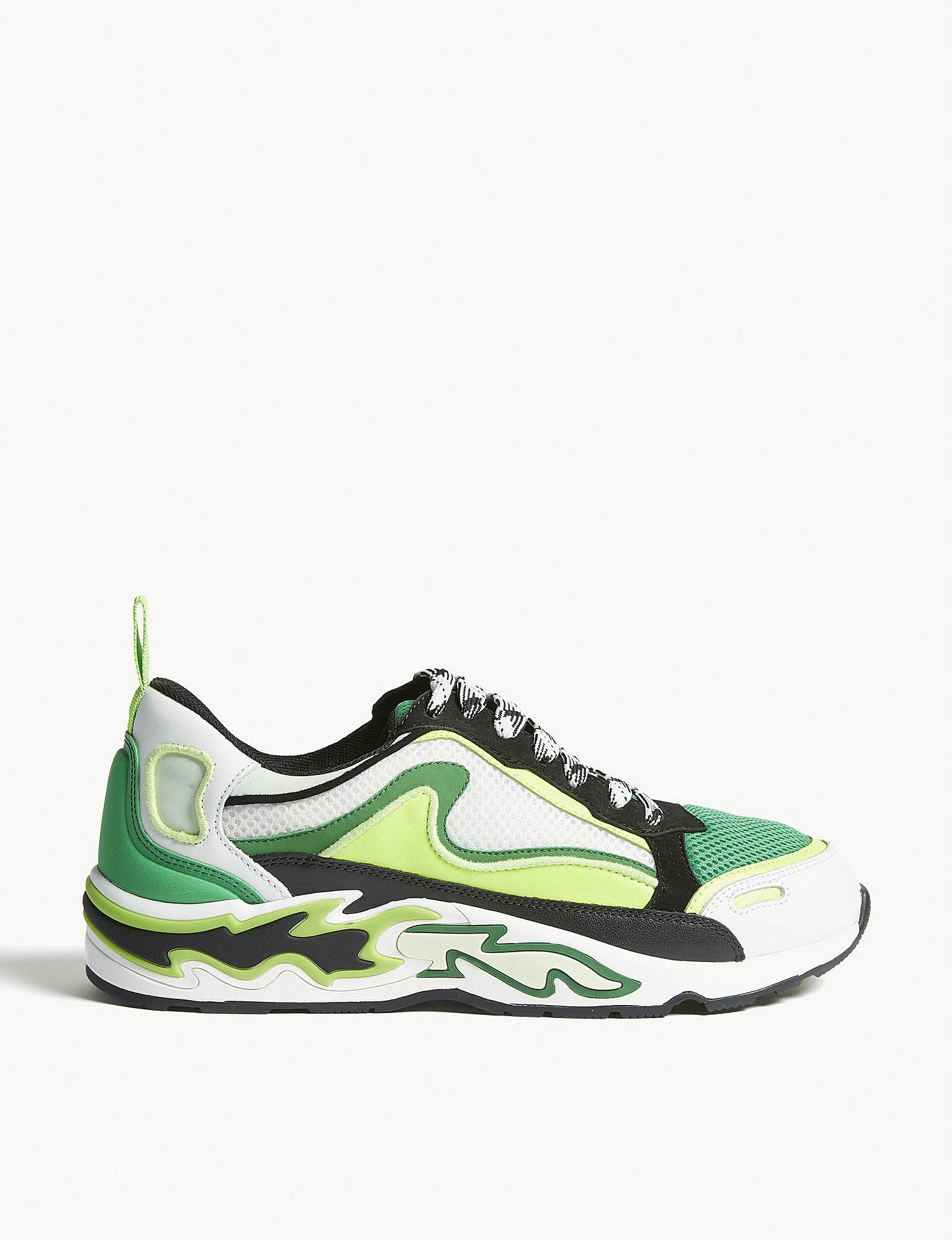 f9db4fb45a Sandro Flame Trainers in Green - Lyst
