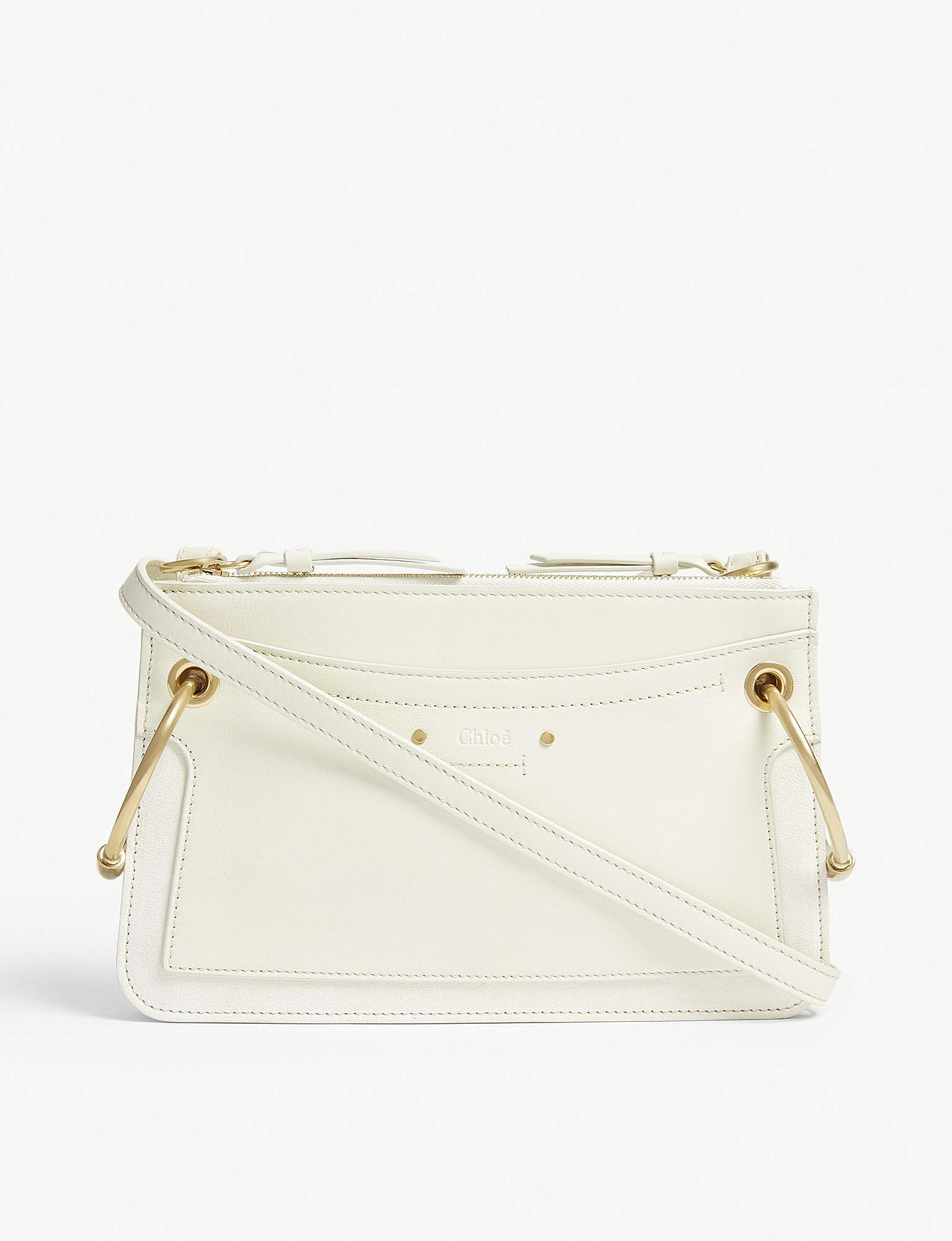 a4940cd13c6 Lyst - Chloé Natural White Roy Mini Leather Shoulder Bag in Natural