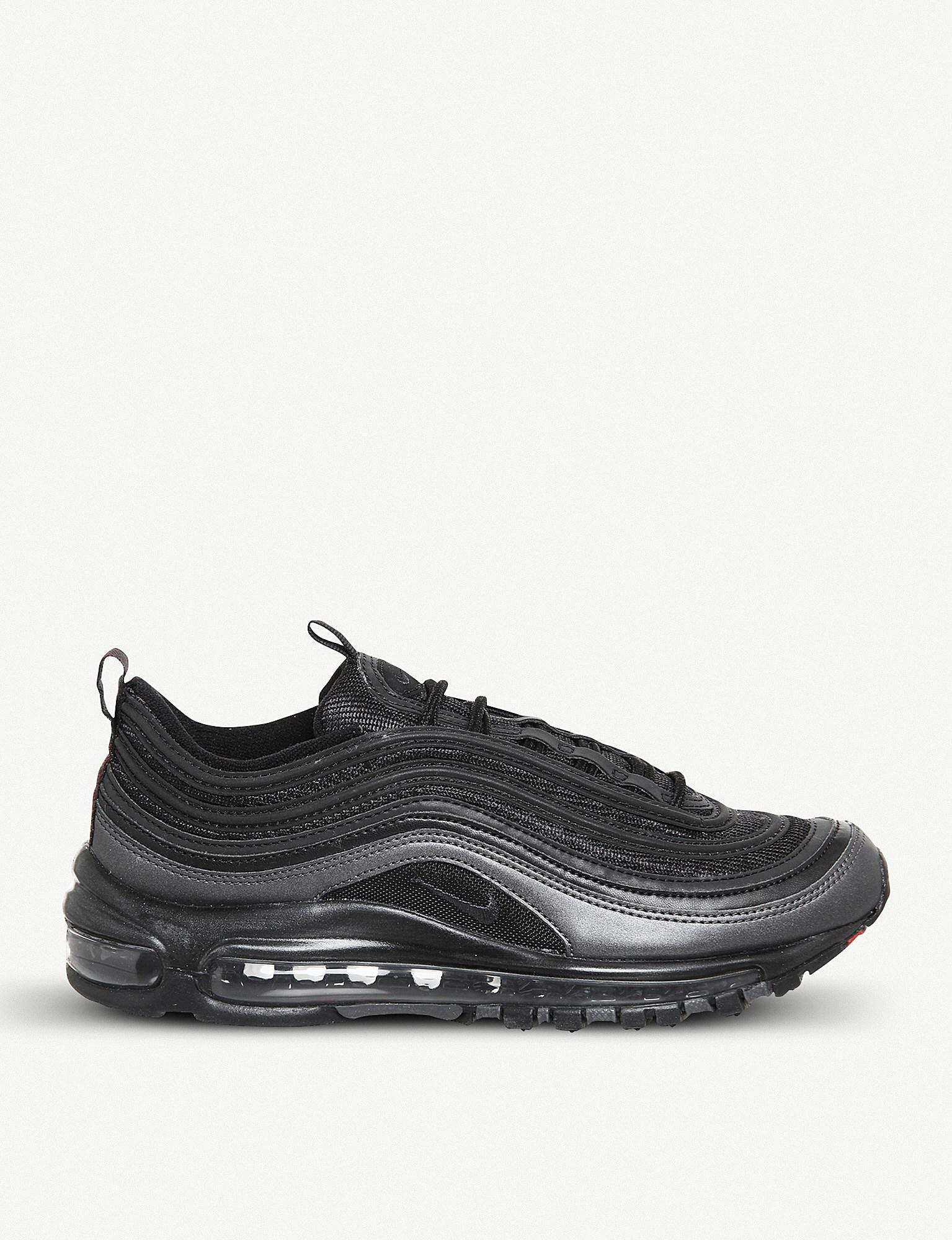 Nike Black Air Max 97 Faux leather Trainers for men