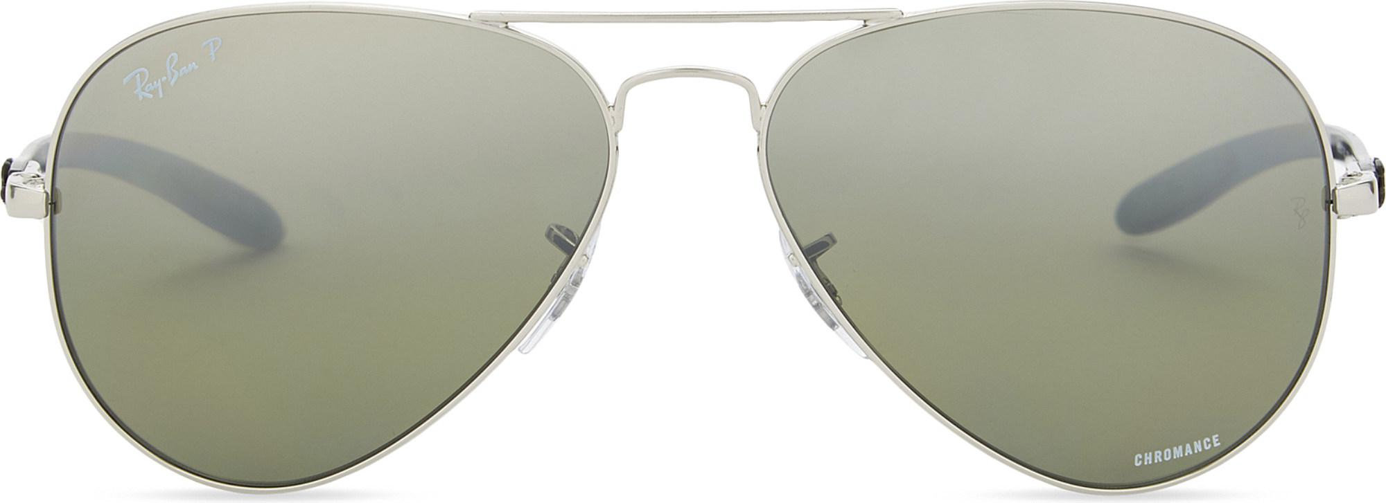 4187e954acf2a Ray-Ban Rb8317ch Chromance® Aviator Sunglasses in Metallic for Men ...