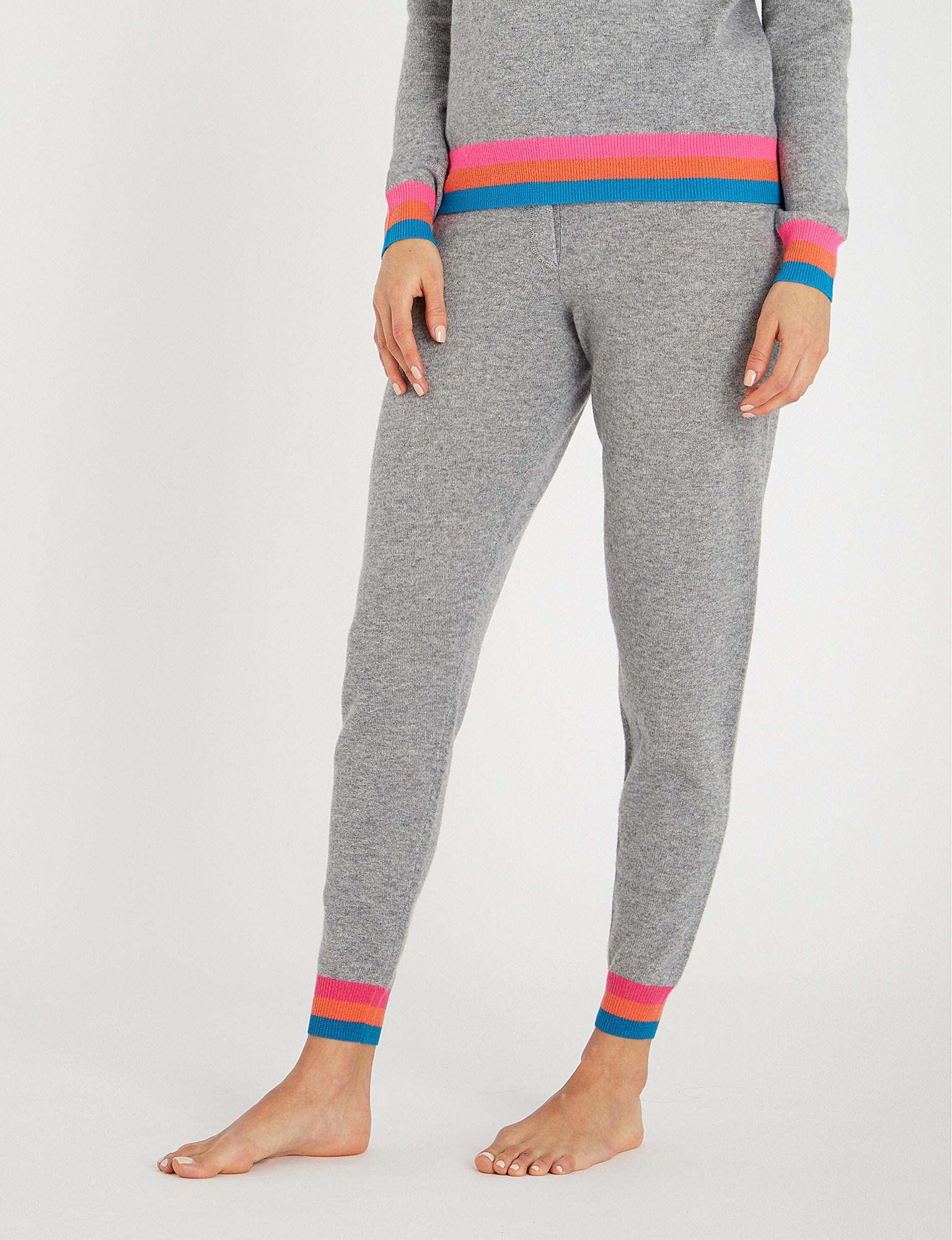 2b32215d Chinti & Parker Striped-cuff Cashmere jogging Bottoms in Gray - Lyst