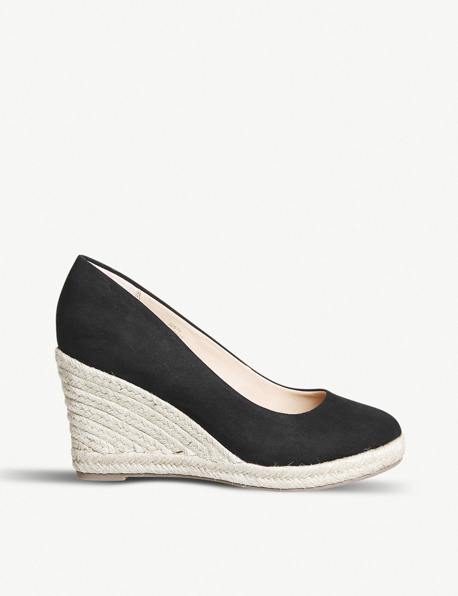 47553fcf66fc Office Marbella Espadrille Wedge Sandals in Black - Lyst