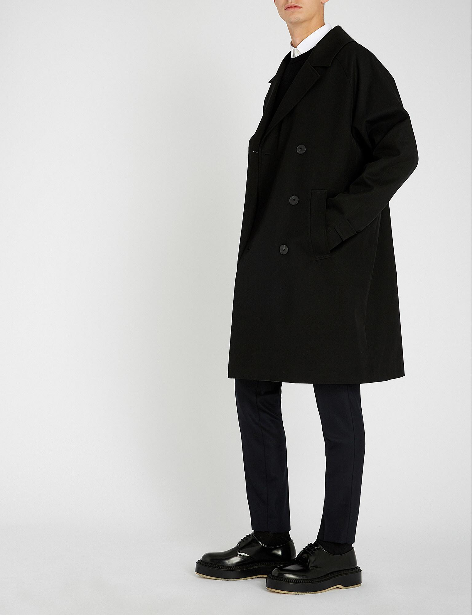 46d540a2e32 The Kooples Double-breasted Checked Stretch-wool Coat in Black for ...