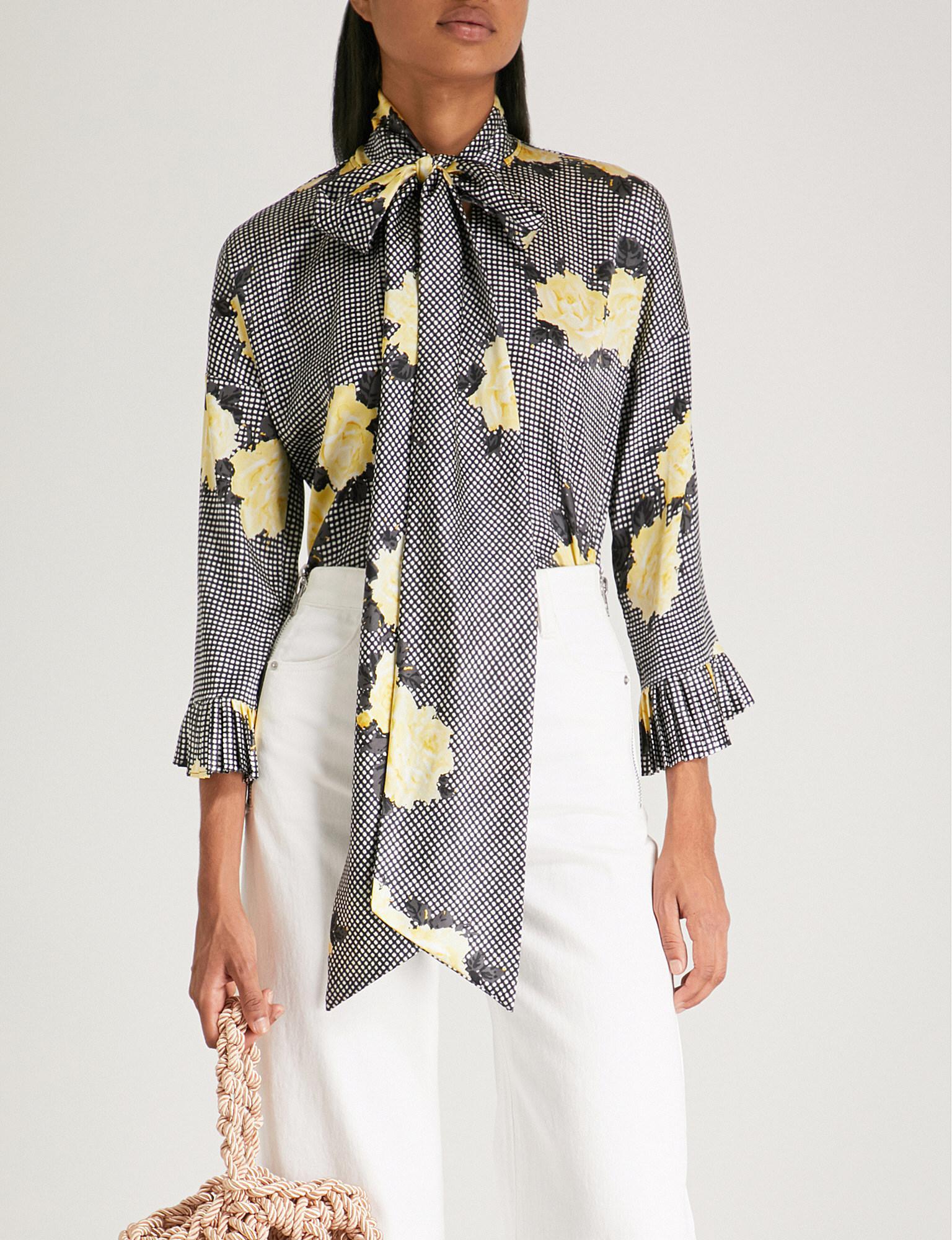 Calla blouse - Black Ganni Buy Cheap Low Shipping Fee fzAid
