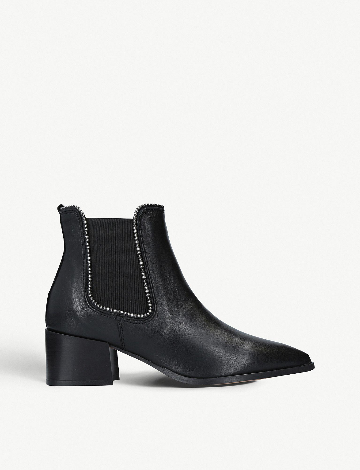 aae2142747fe Lyst - Carvela Kurt Geiger Spire Studded Leather Chelsea Boots in Black