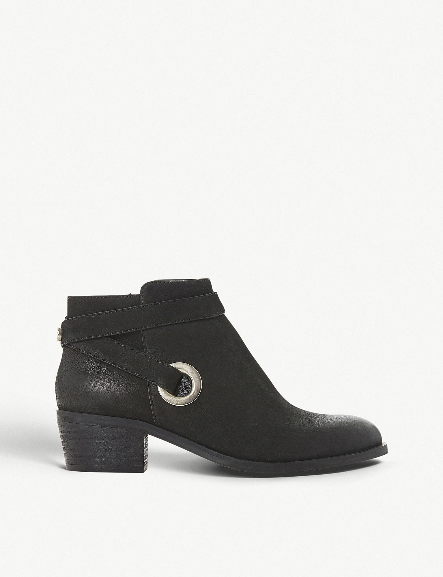 d10db6b7362 Lyst - Steve Madden Owald Cross-strap Leather Ankle Boots in Black