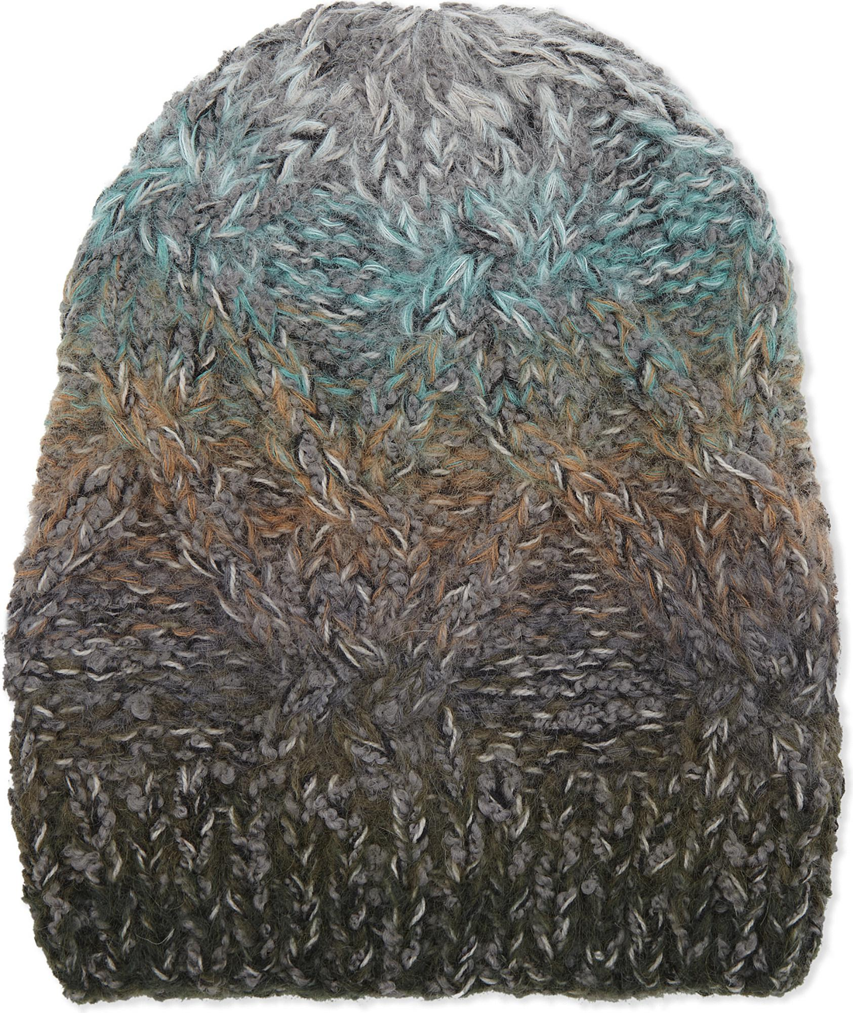 284ff68bf2b Lyst - Missoni Ombré Irregular Cable Knit Wool Beanie in Gray for Men