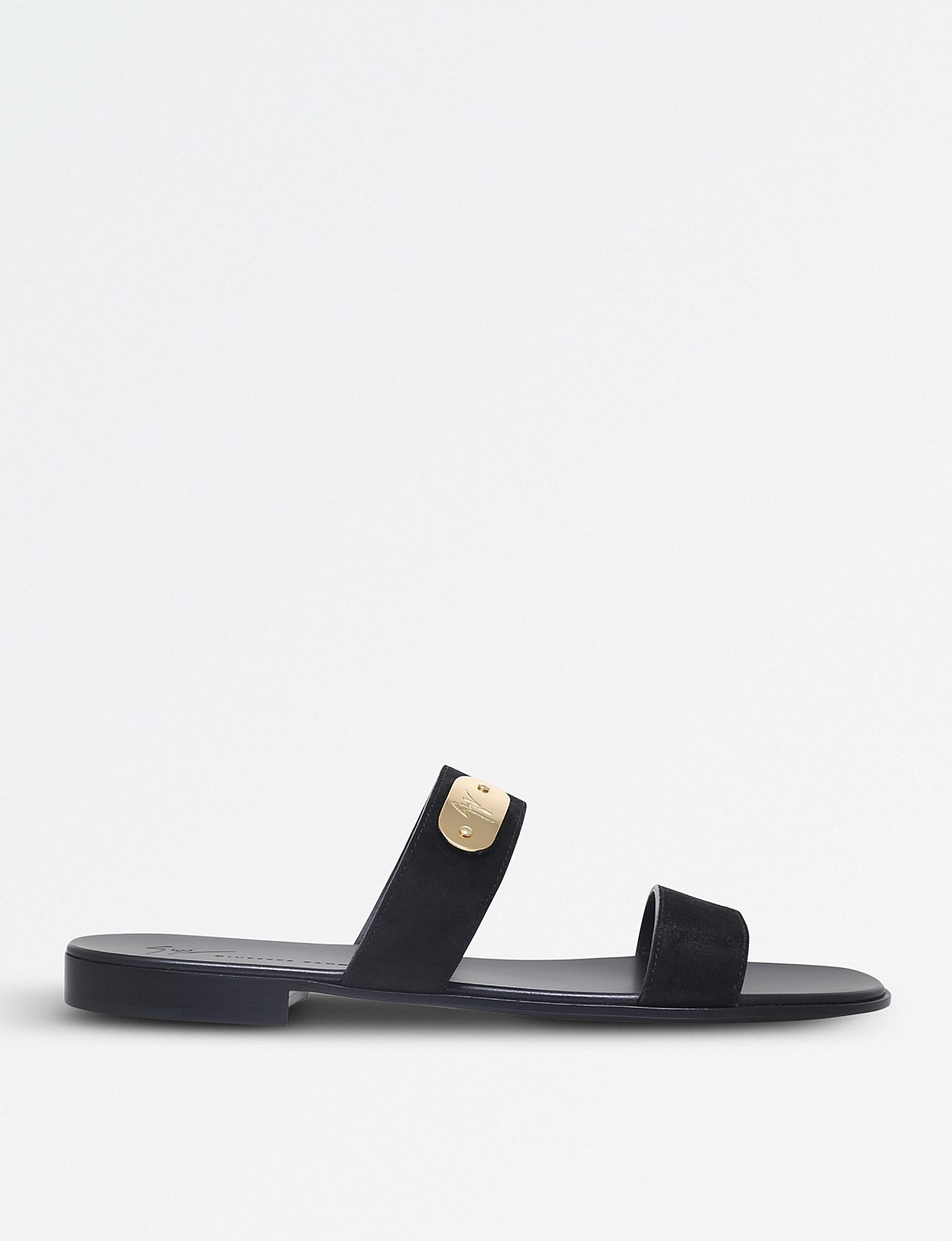 logo plate sandals - Black Giuseppe Zanotti Aul7Fek