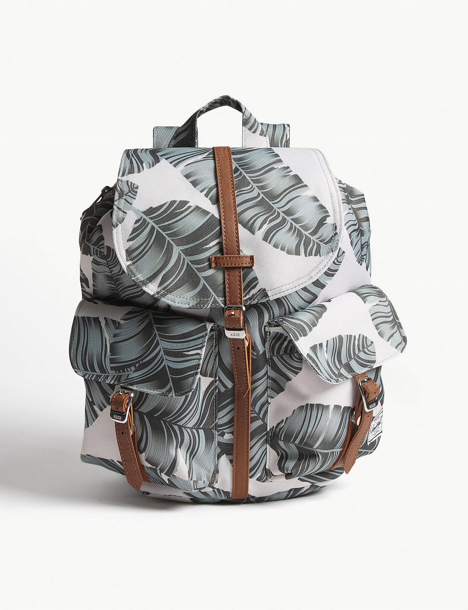 Lyst - Herschel Supply Co. Dawson Leaf Print Canvas Backpack Extra ... c592eeb5a6