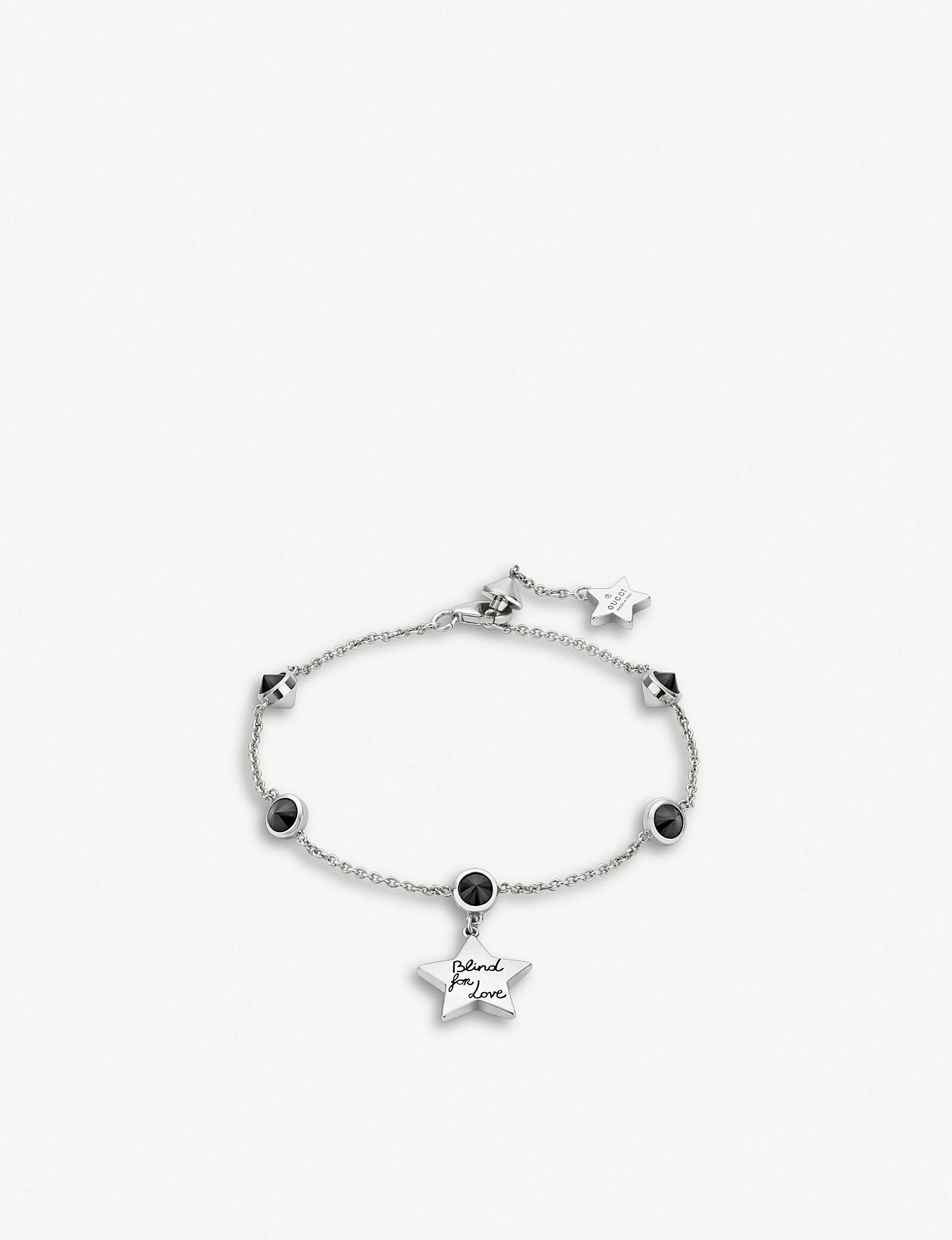66391f454 Gucci Blind For Love Star Sterling Silver And Black Spinel Stone ...