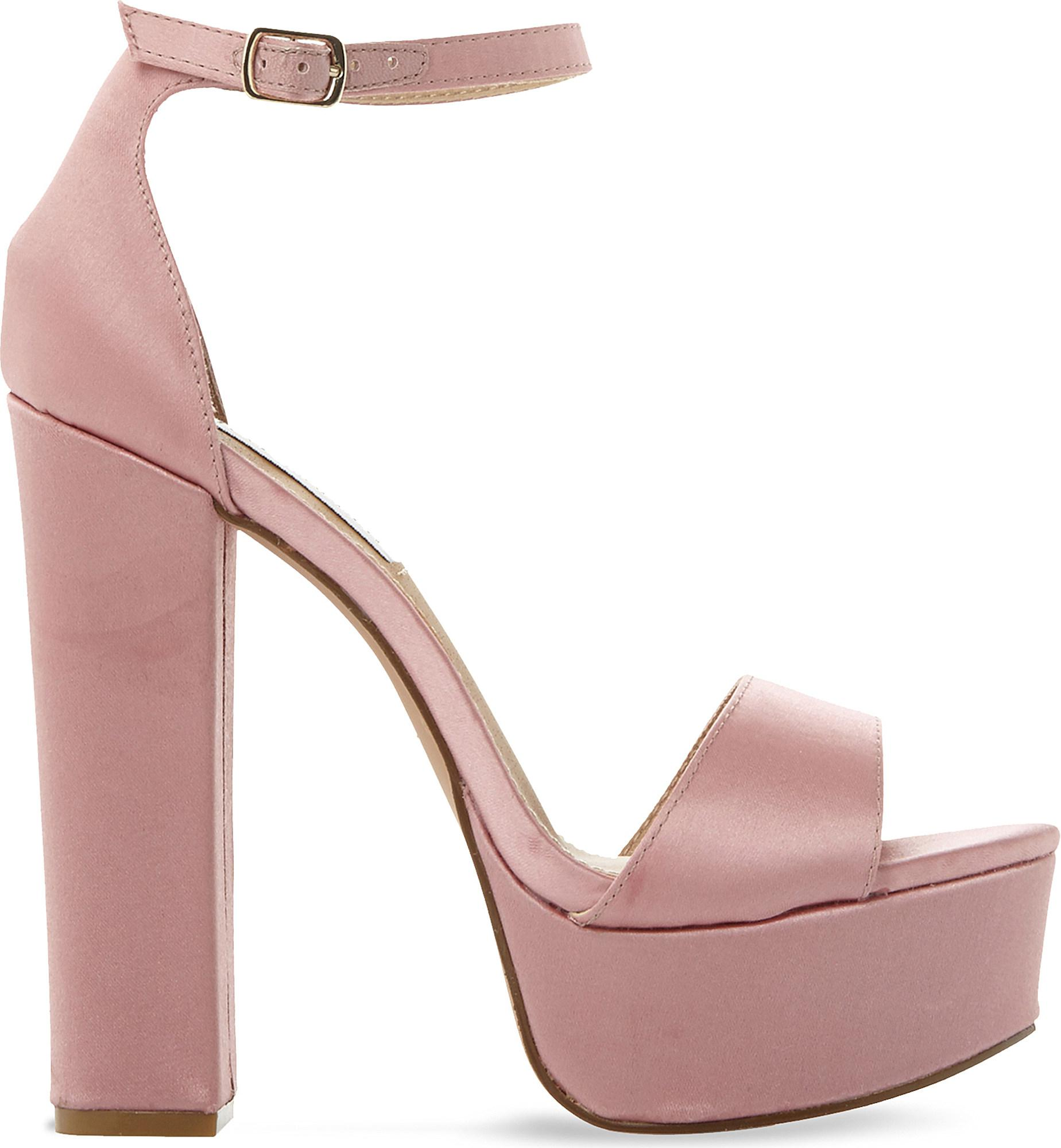281f3015667b Steve Madden Gonzo Satin Platform Sandals in Pink - Lyst