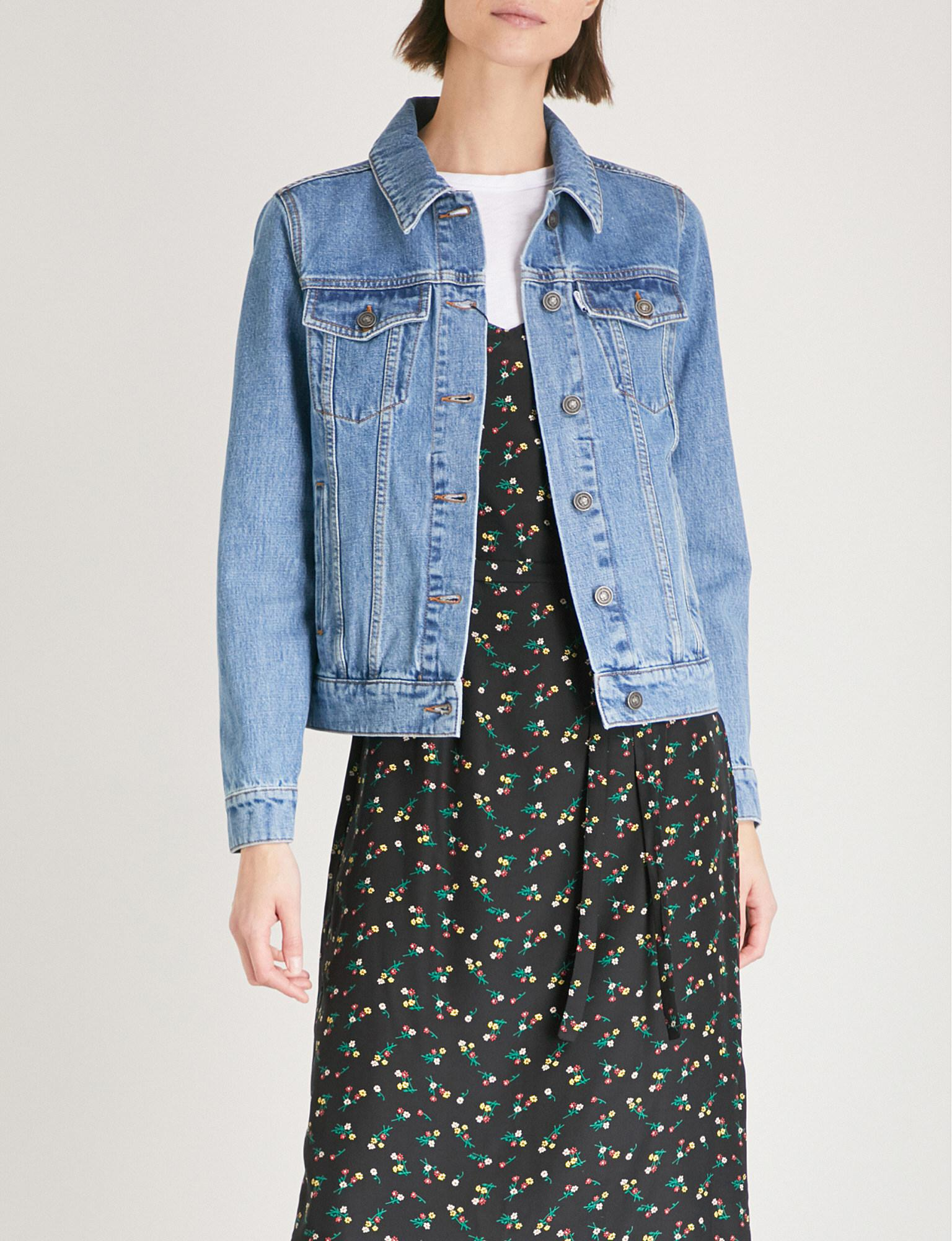 a5e59c43 KENZO Tiger-embroidered Denim Jacket in Blue - Lyst