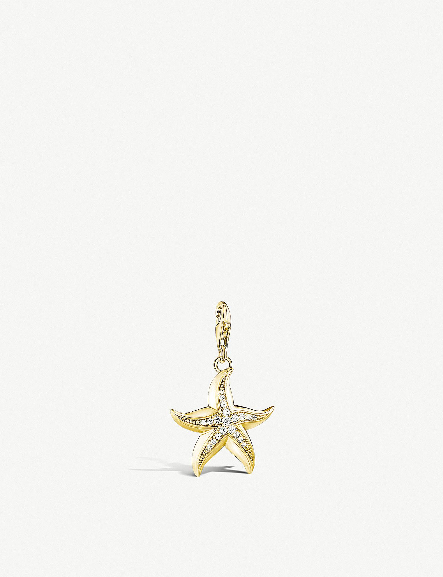 Lyst thomas sabo starfish 18ct yellow gold plated pendant in metallic thomas sabo womens metallic starfish 18ct yellow gold plated pendant aloadofball Gallery