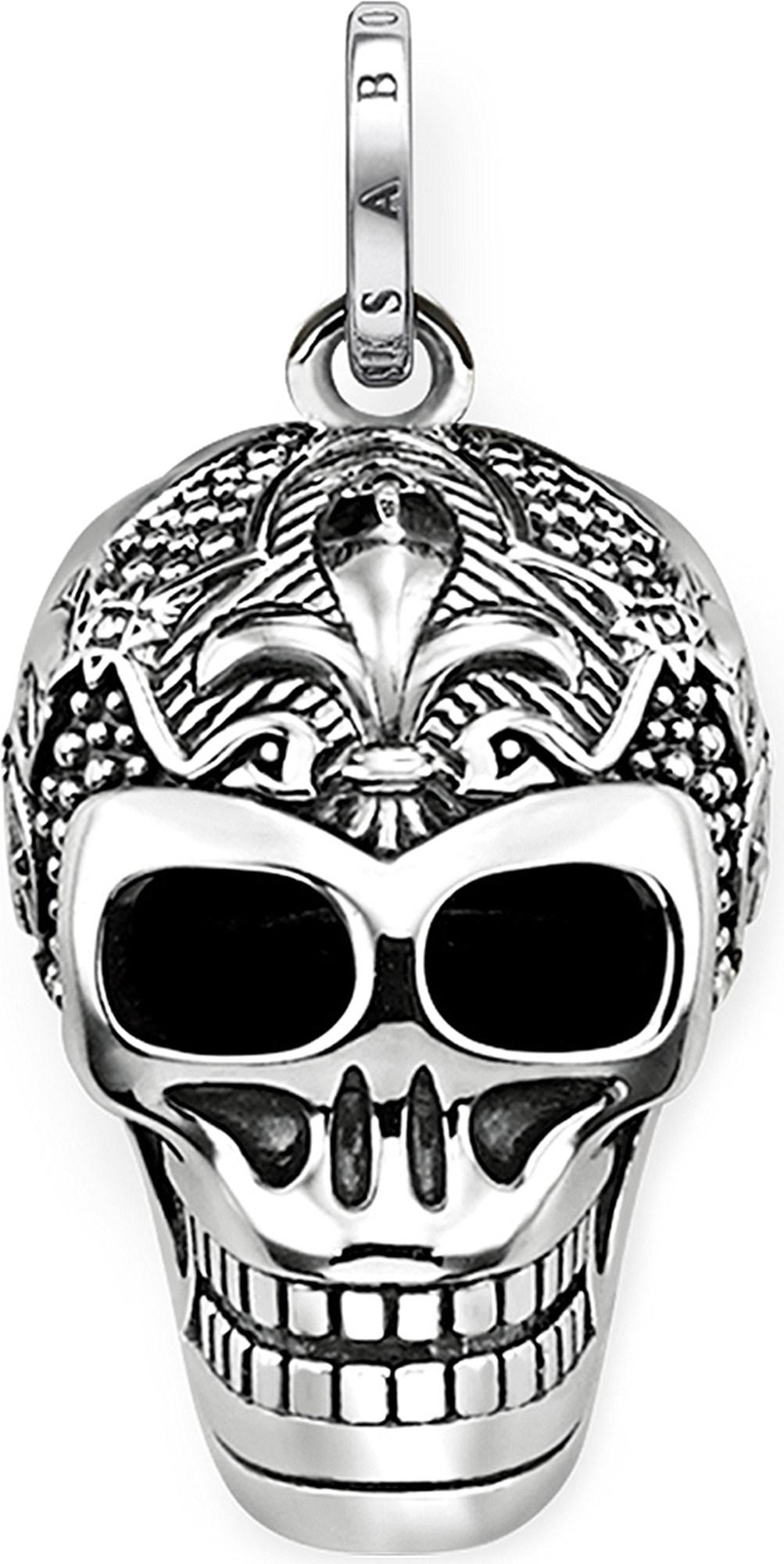 Lyst thomas sabo rebel at heart skull sterling silver pendant in gallery mozeypictures Image collections