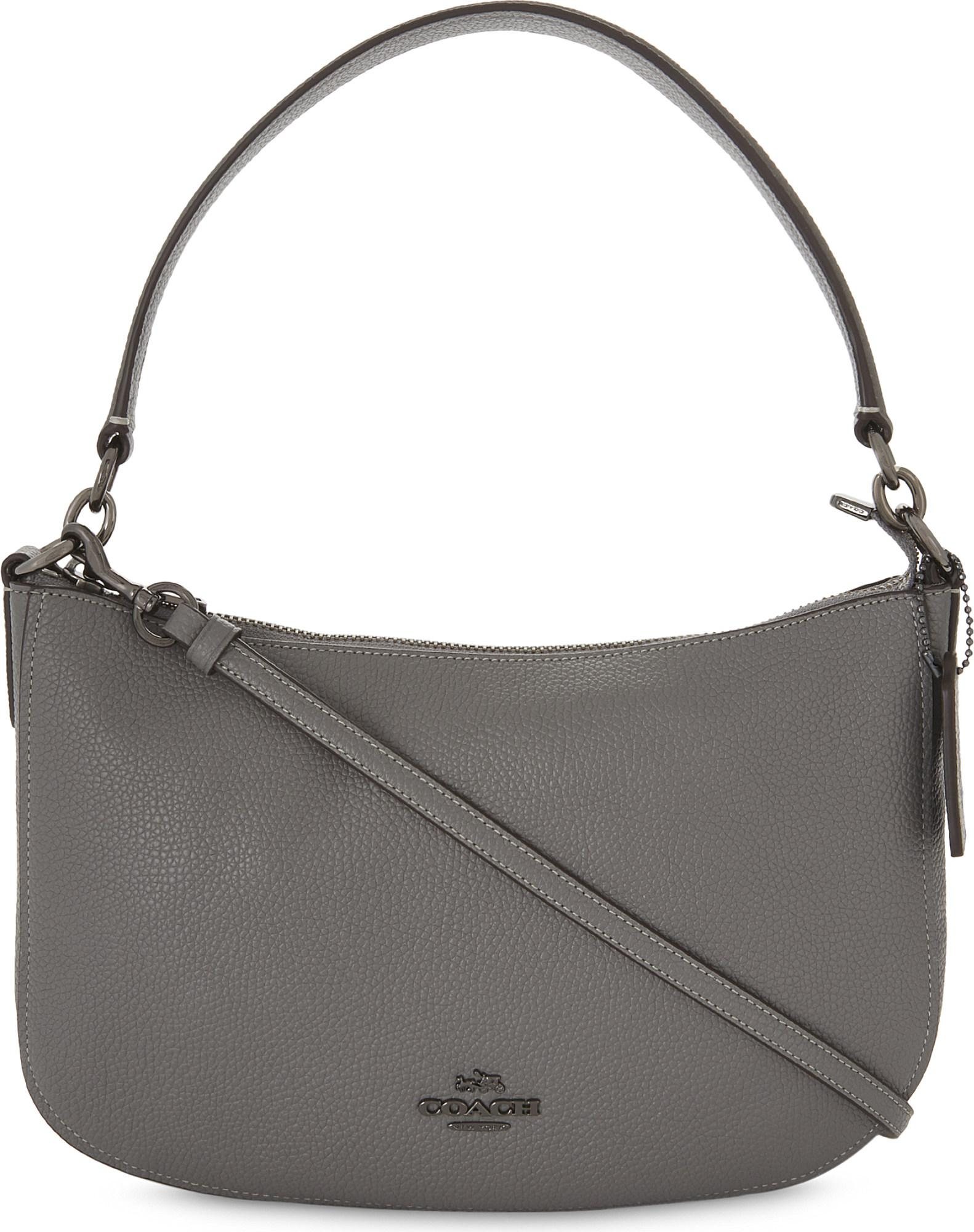 9658efc6d9 ... order coach chelsea flap hobo black leather shoulder bag tradesy coach  chelsea leather cross body bag