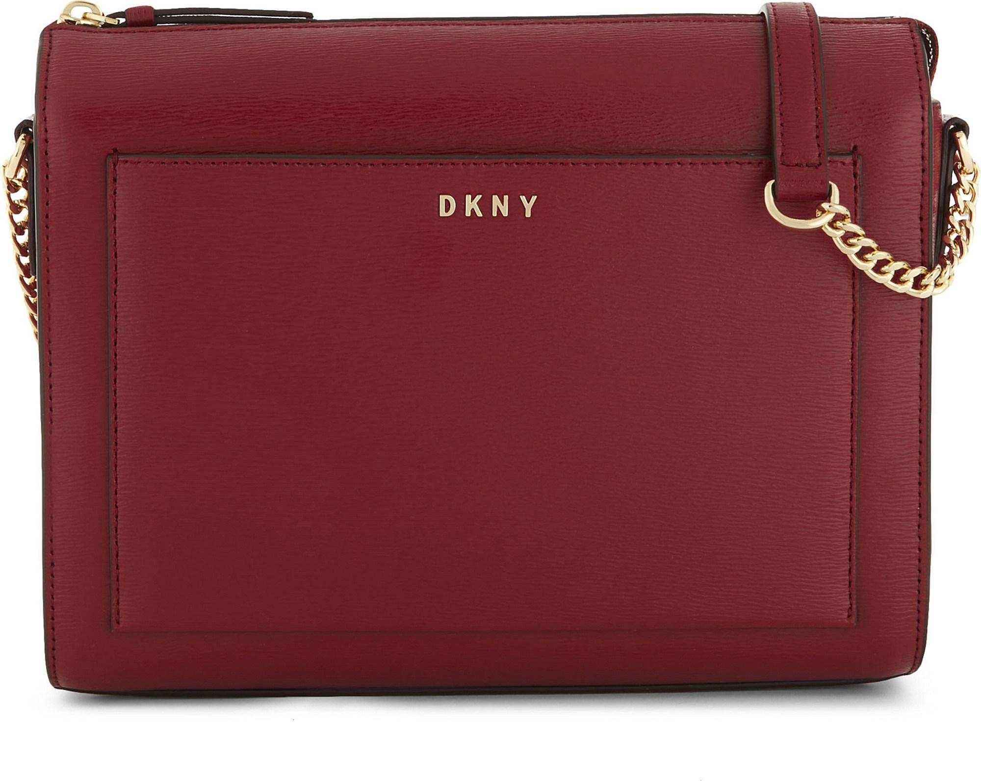 2f03ed08c8ae Lyst - DKNY Bryant Medium Leather Cross-body Bag in Red